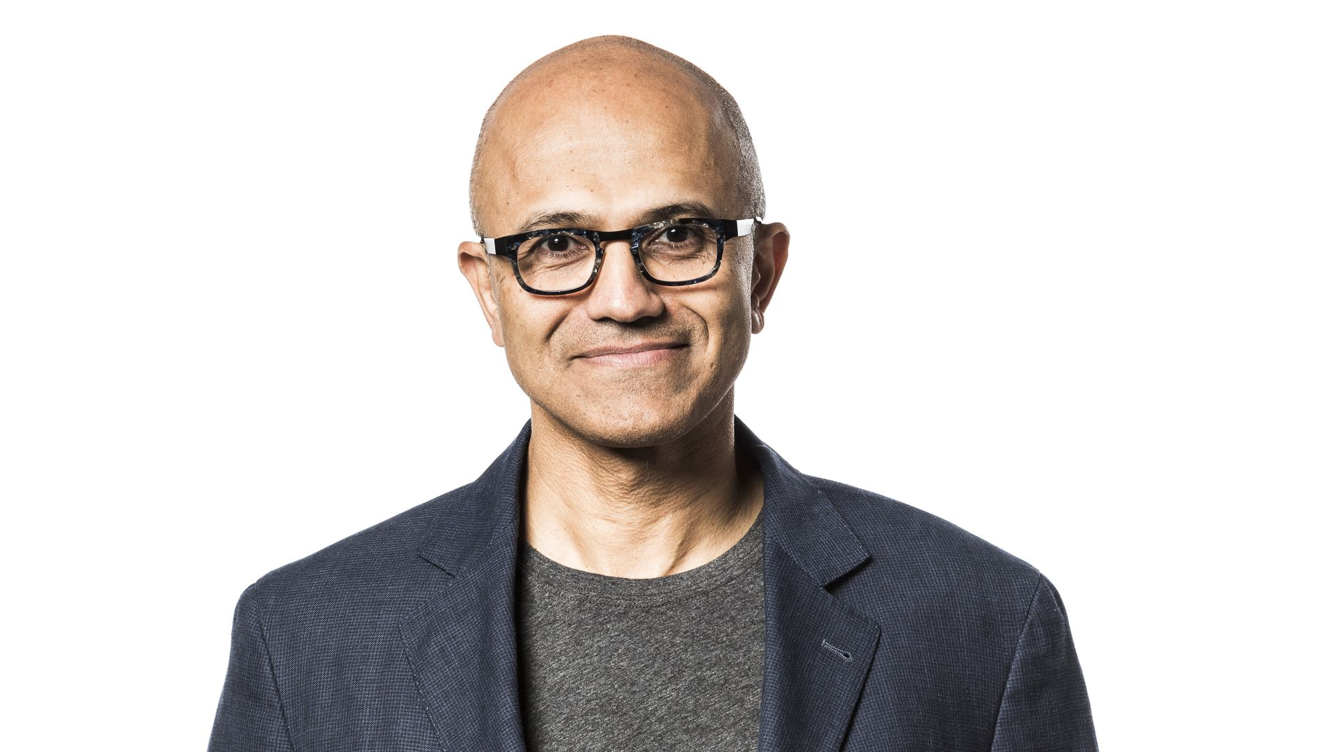 Microsoft CEO Satya Nadella in a corporate portrait