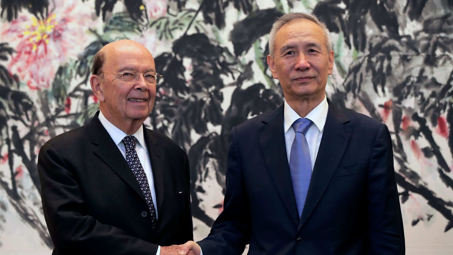 Commerce Secretary Wilbur Ross and Chinese Vice Premier Liu He. Photo: Andy Wong/AFP/Getty Images