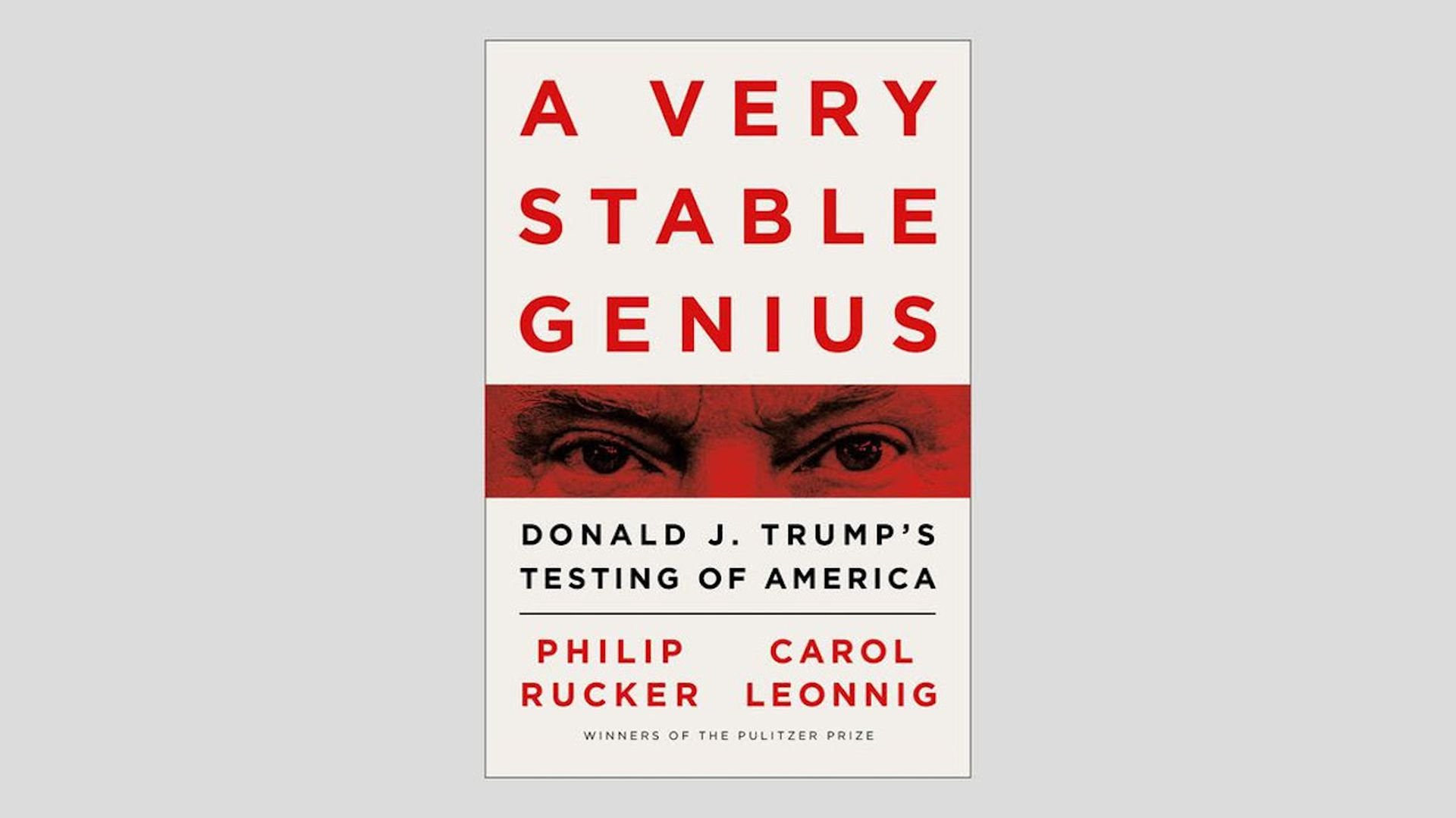 "THe cover of the book ""A very stable genius"""
