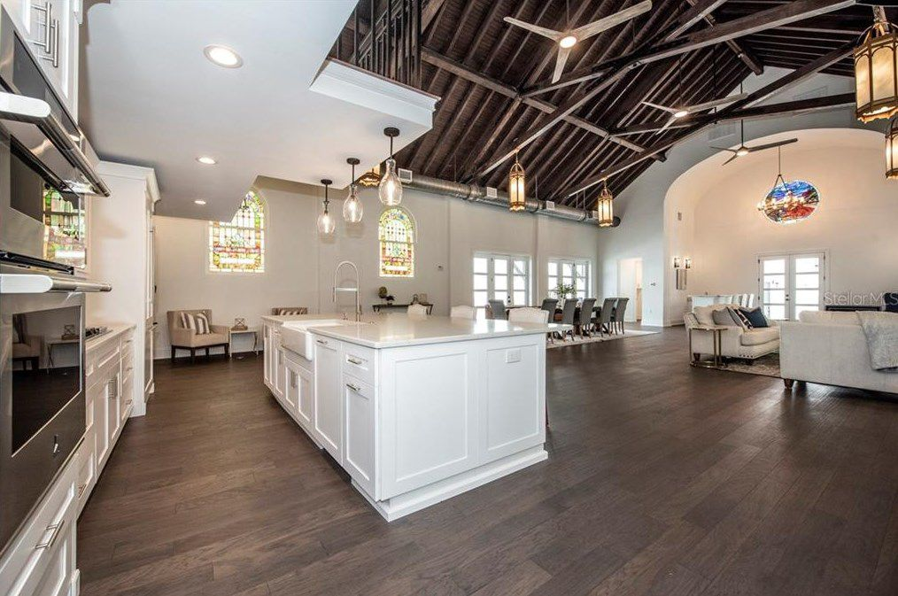 St. Pete church turned luxury home kitchen
