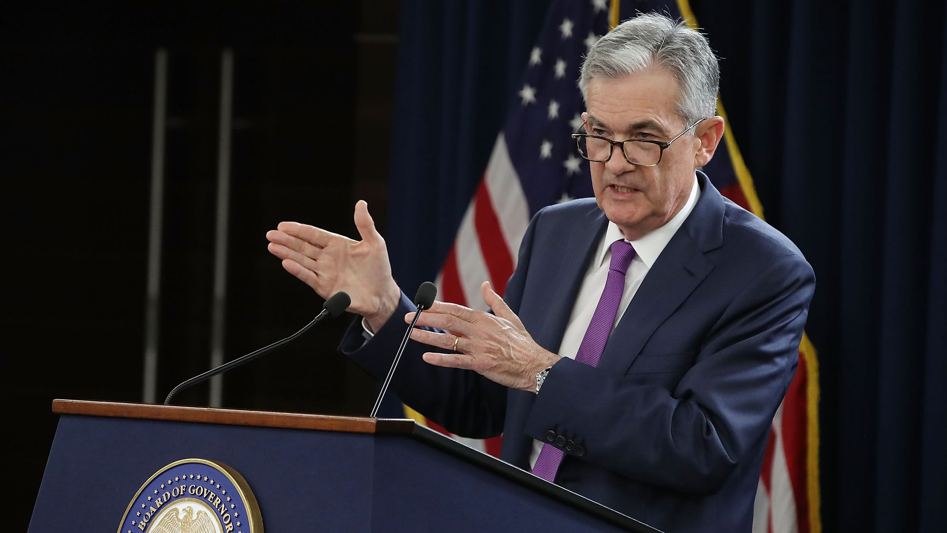 Fed Chair Jerome Powell speaks during a news conference on September 26, 2018.