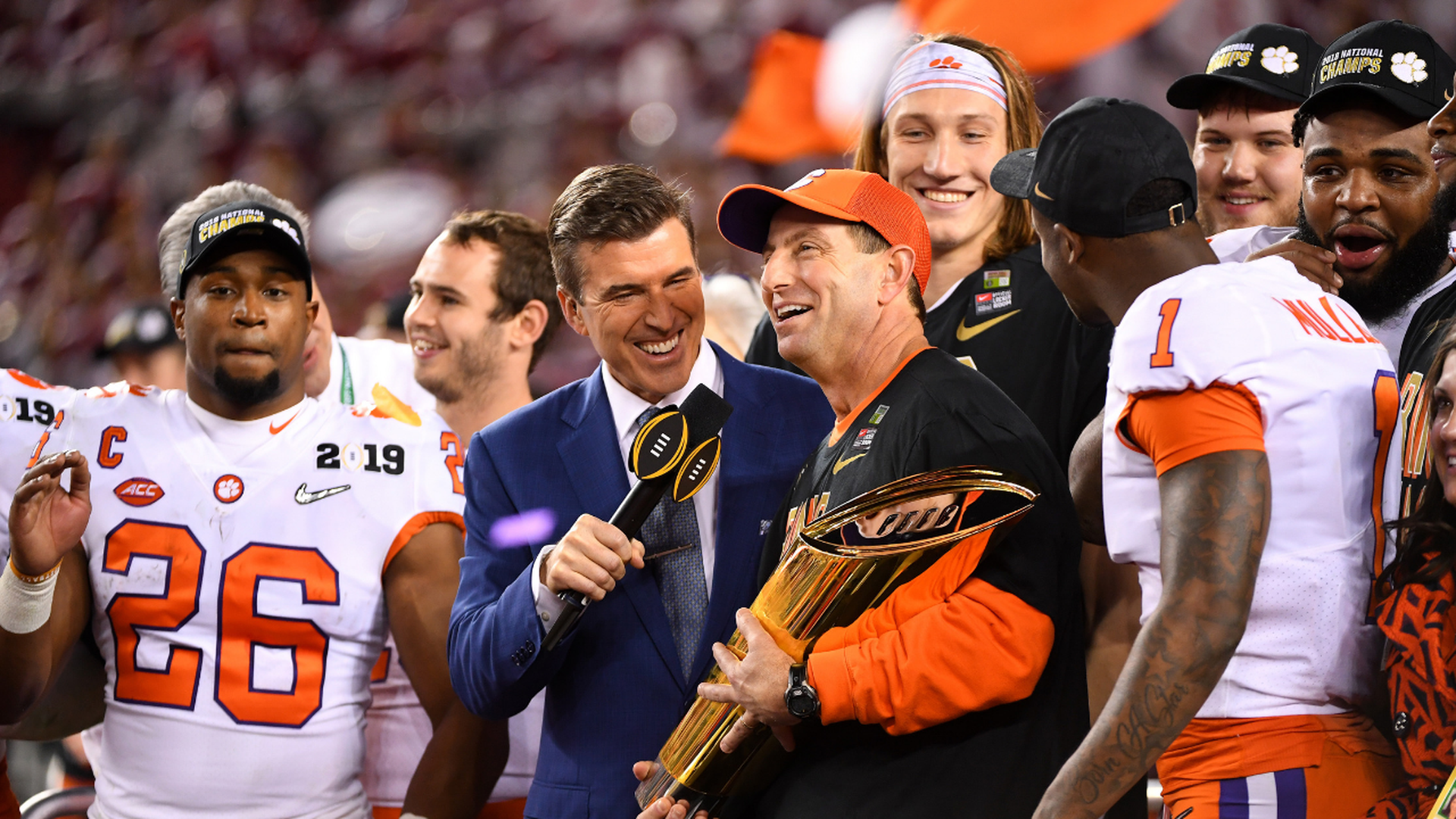 Dabo Swinney after winning the National Championship