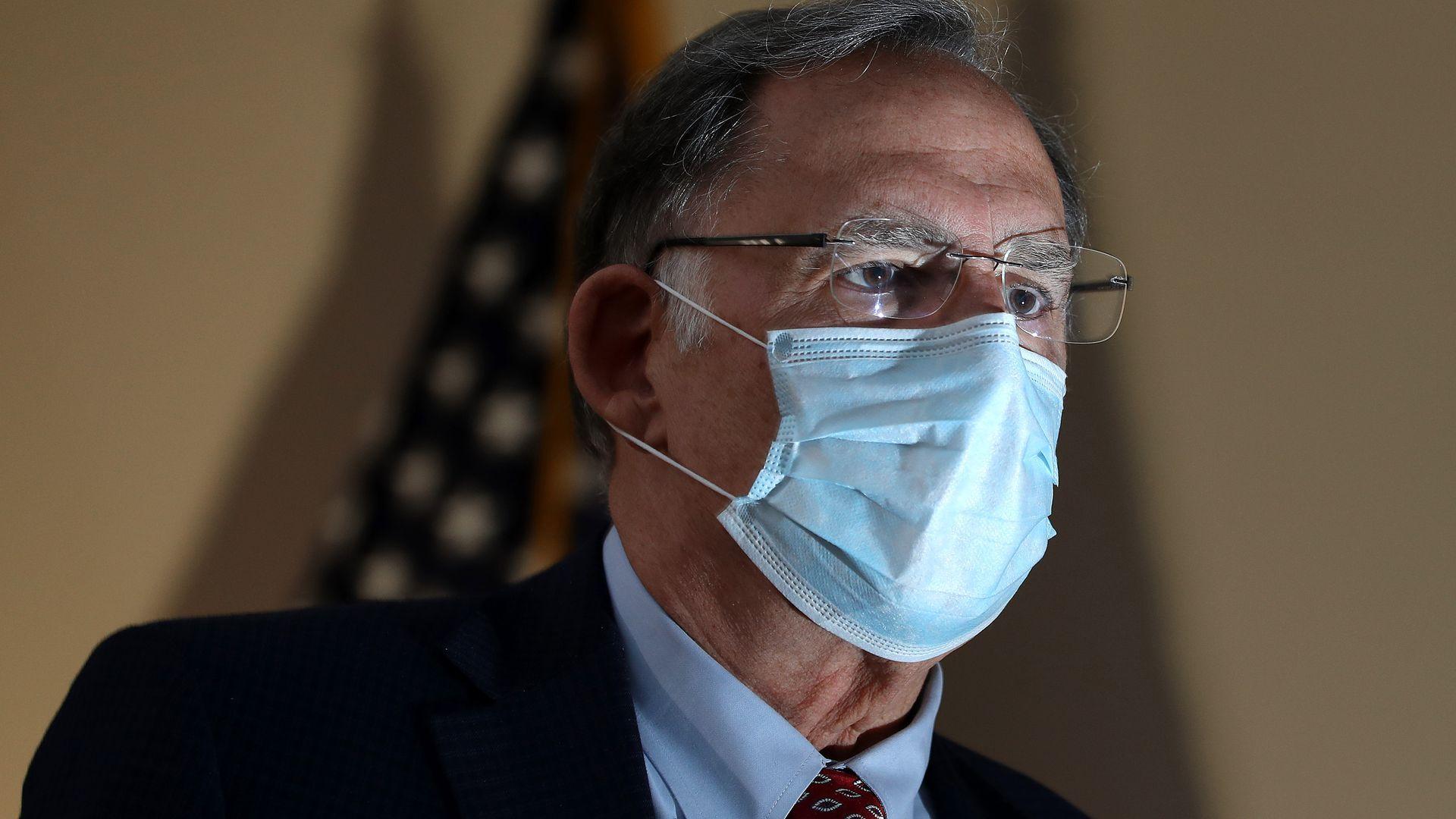 Senator John Boozman wearing a face mask.