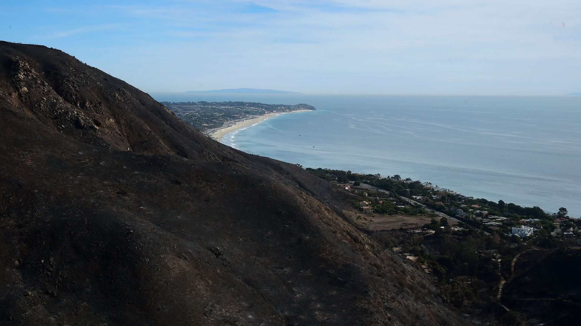 Charred hills from Woodsey Fire.