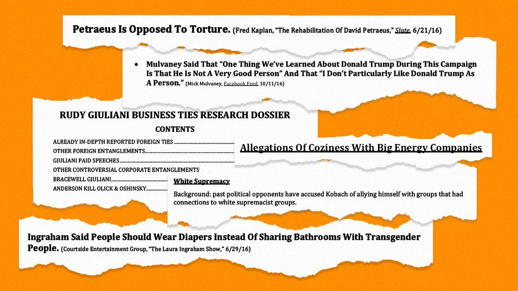 Massive leak of Trump transition documents