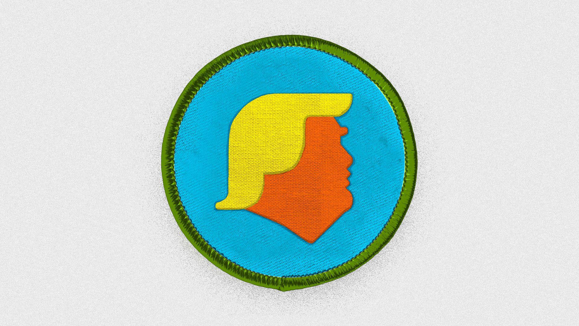 Trump as a boy scout badge