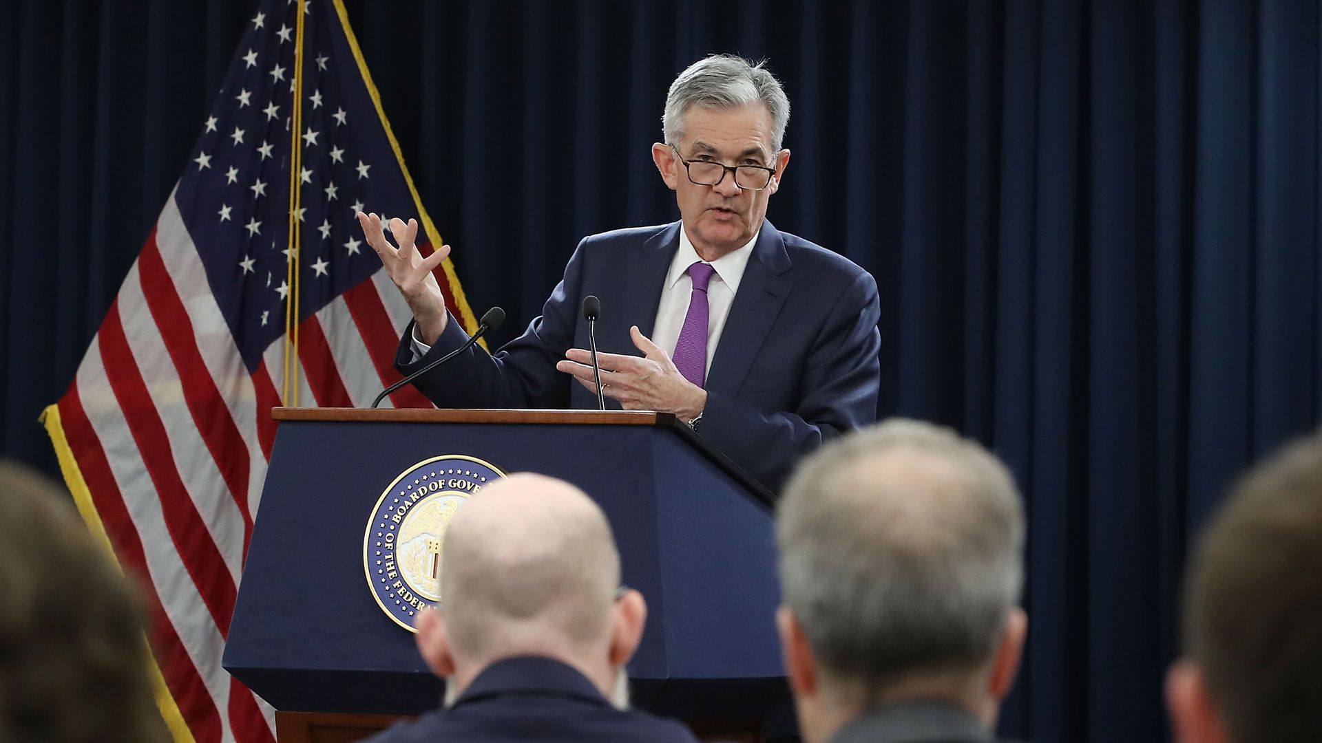 WASHINGTON, DC - SEPTEMBER 26: Federal Reserve Board Chairman Jerome Powell speaks during a news conference on September 26, 2018