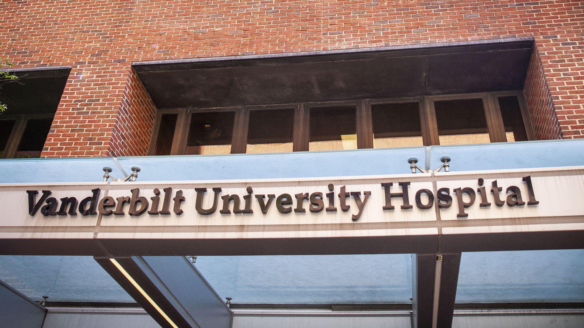 A sign outside the entrance to Vanderbilt University Medical Center.