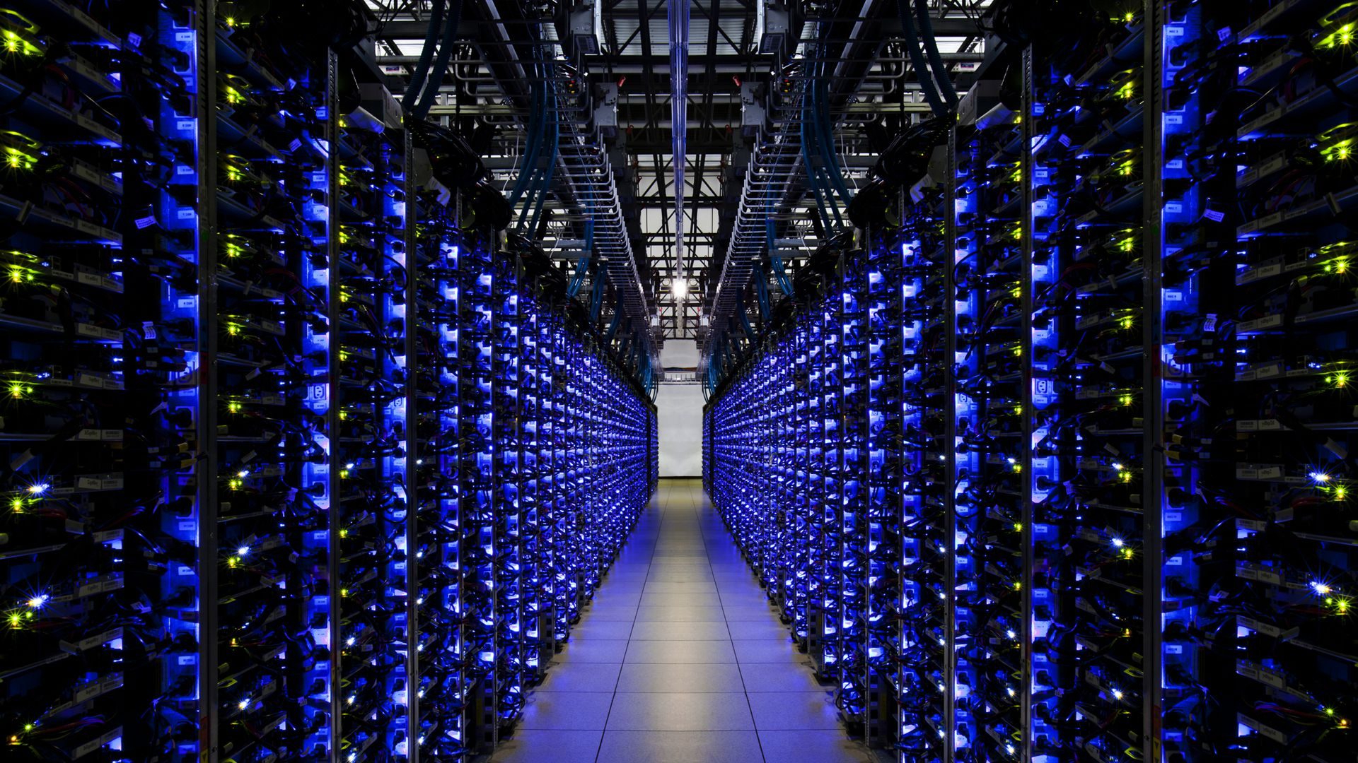 Interior of a Google data center.
