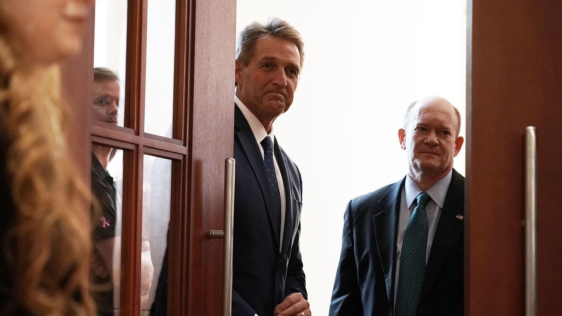Senators Jeff Flake and Chris Coons