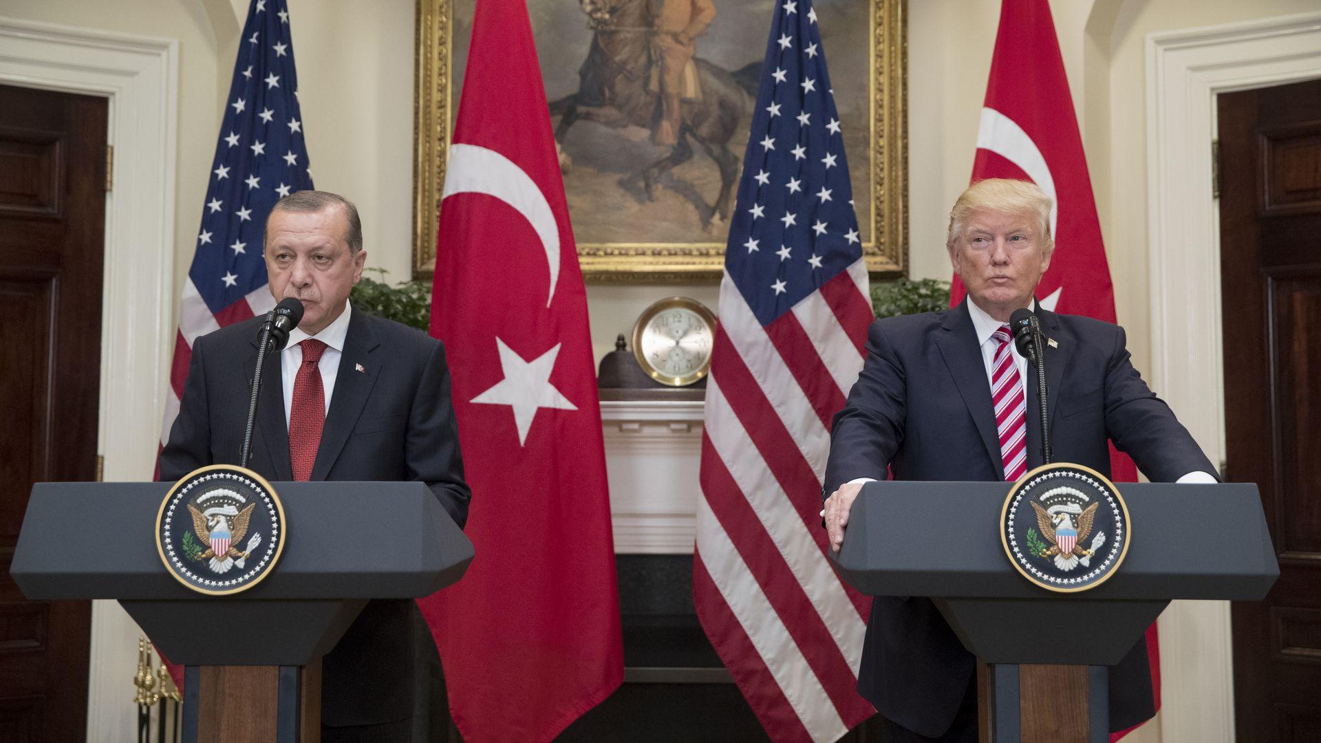 US President Donald J. Trump and President of Turkey Recep Tayyip Erdogan