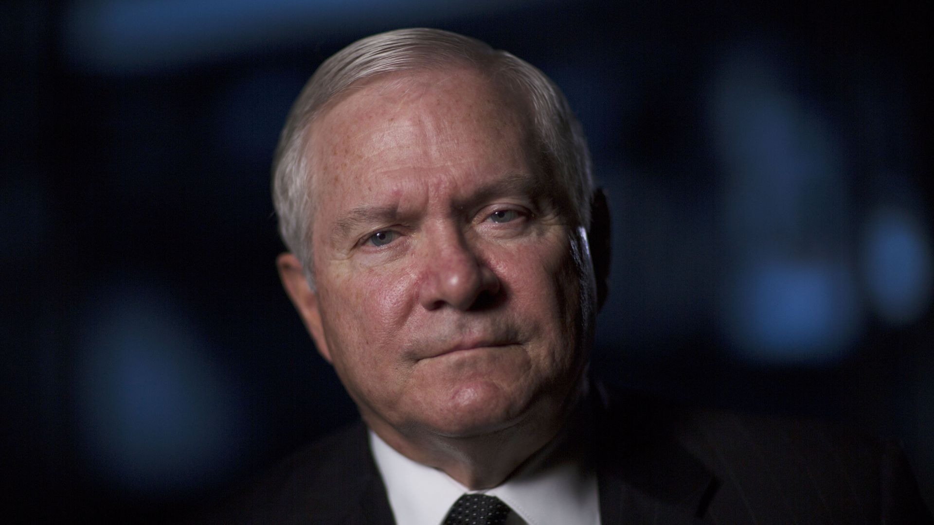 Robert Gates looks at camera sternly