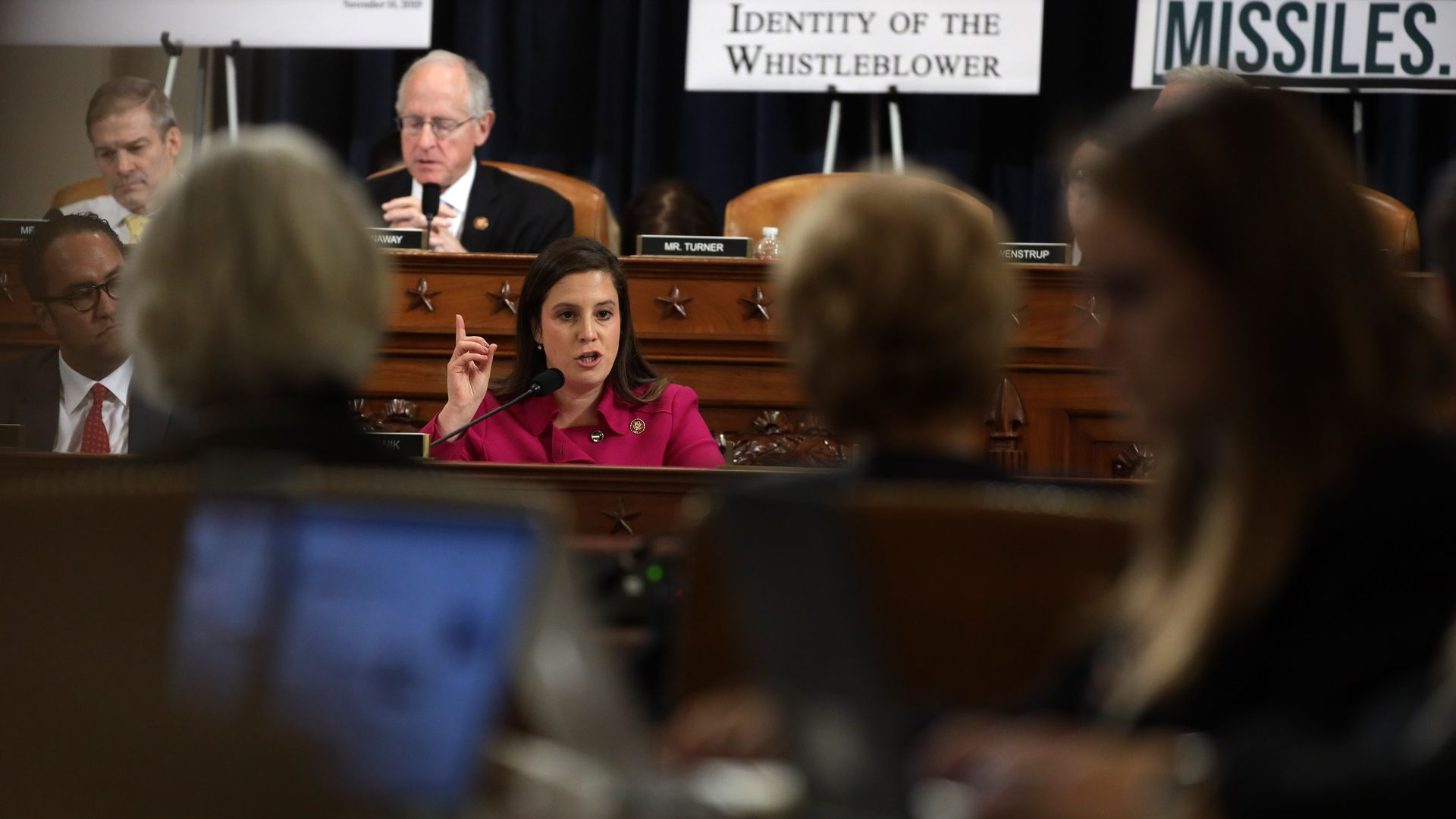 Rep. Elise Stefanik speaking during an impeachment hearing