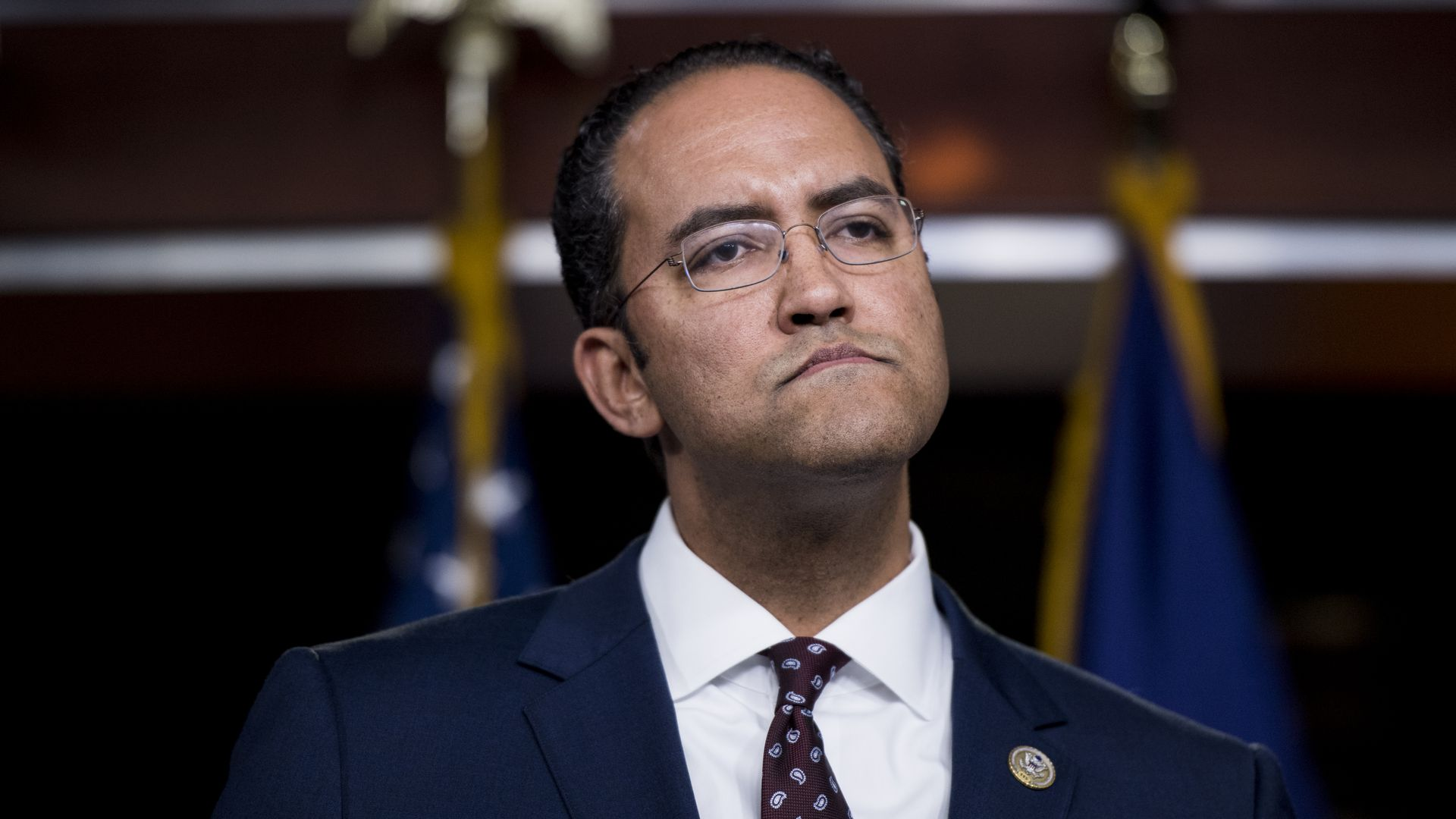 Rep. Will Hurd looking unhappy