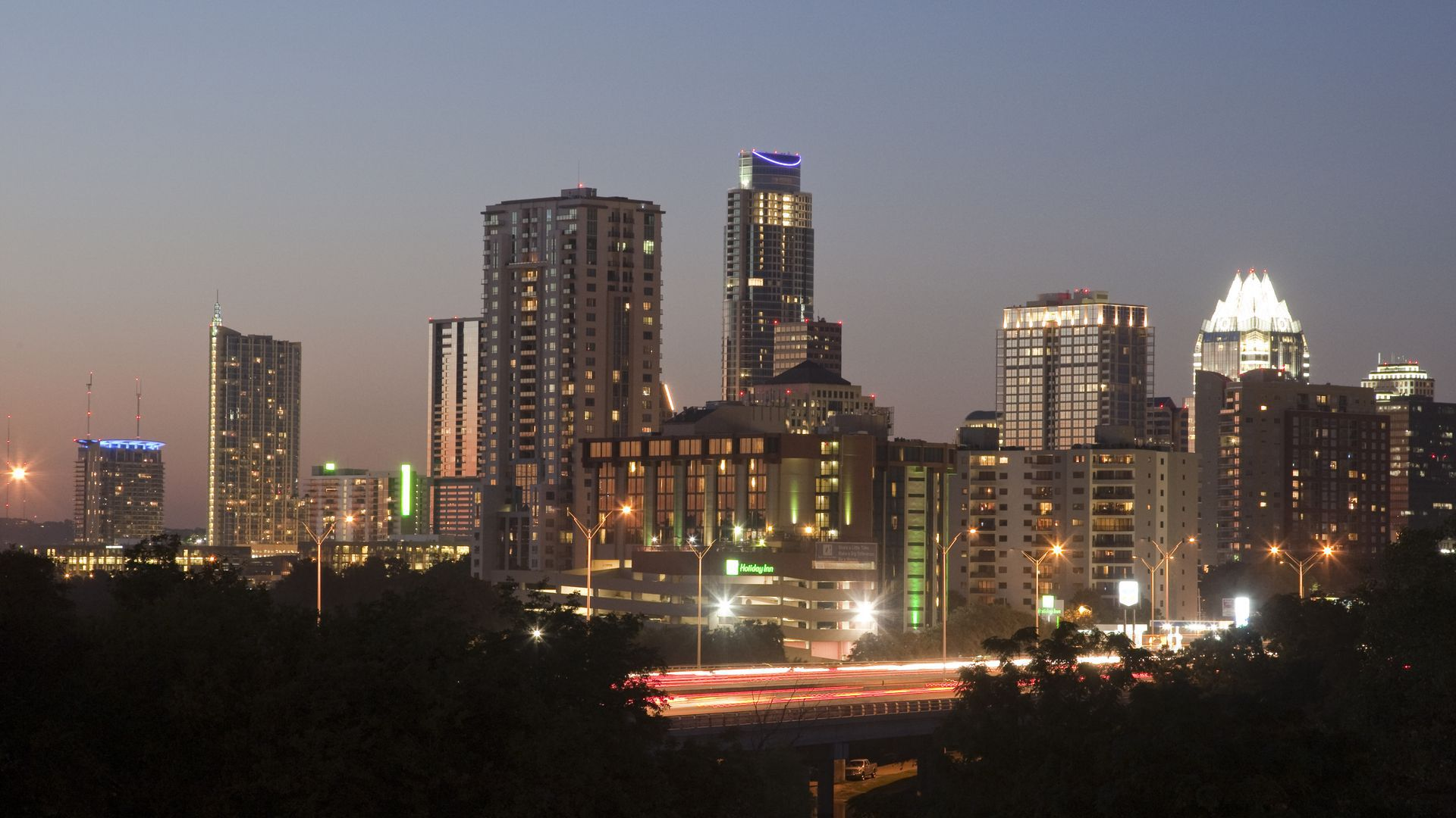 Austin skyline at sunset. Photo: Robert Daemmrich Photography Inc. / Corbis via Getty Images