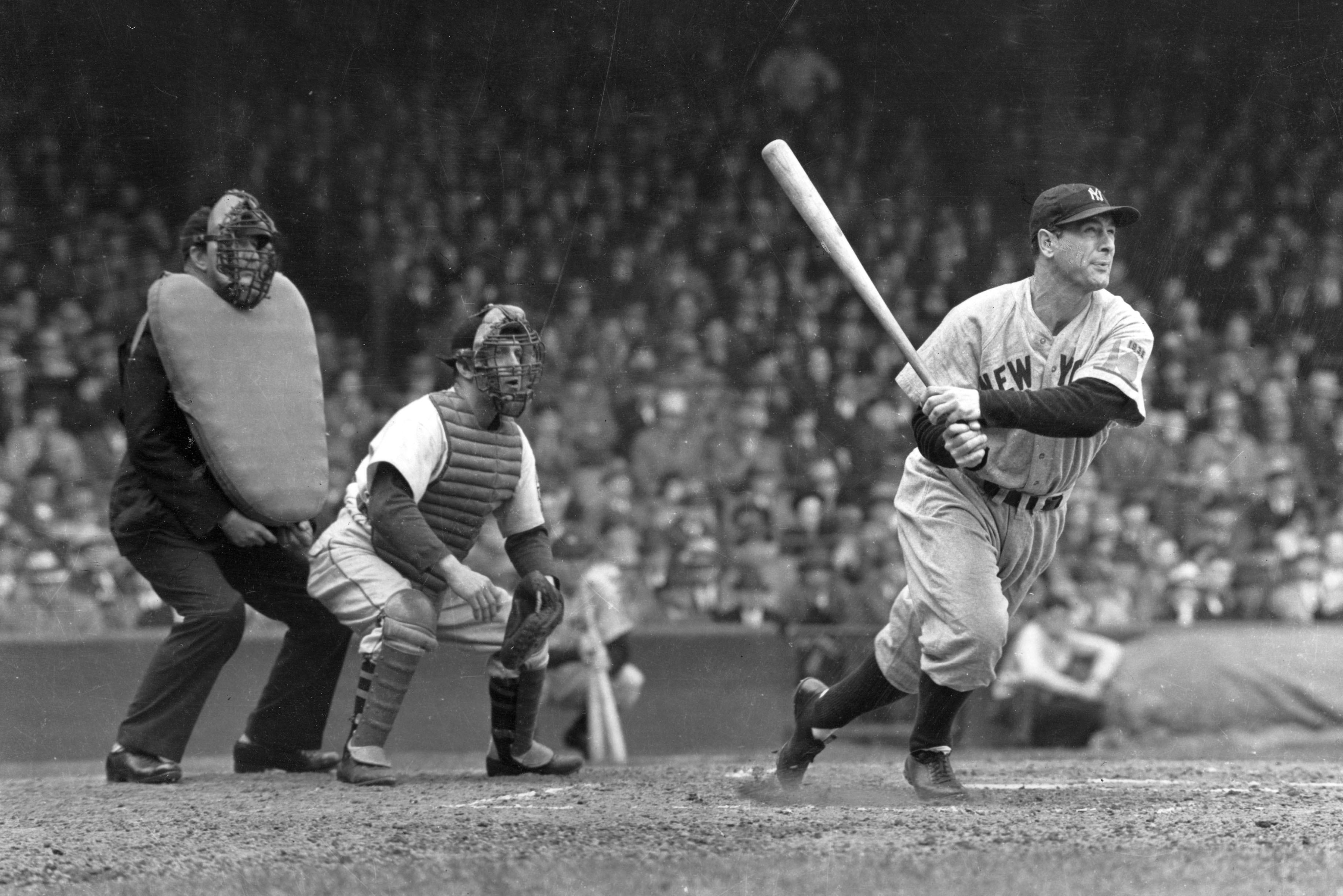 Lou Gehrig in the batter's box