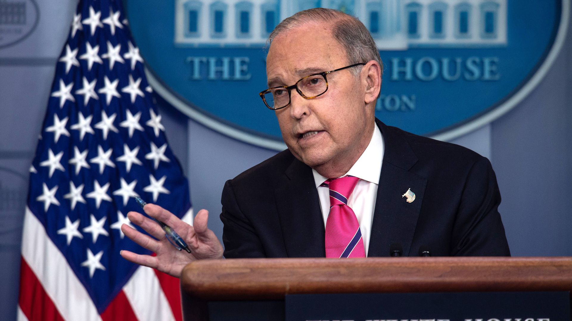 Larry Kudlow at the White House.