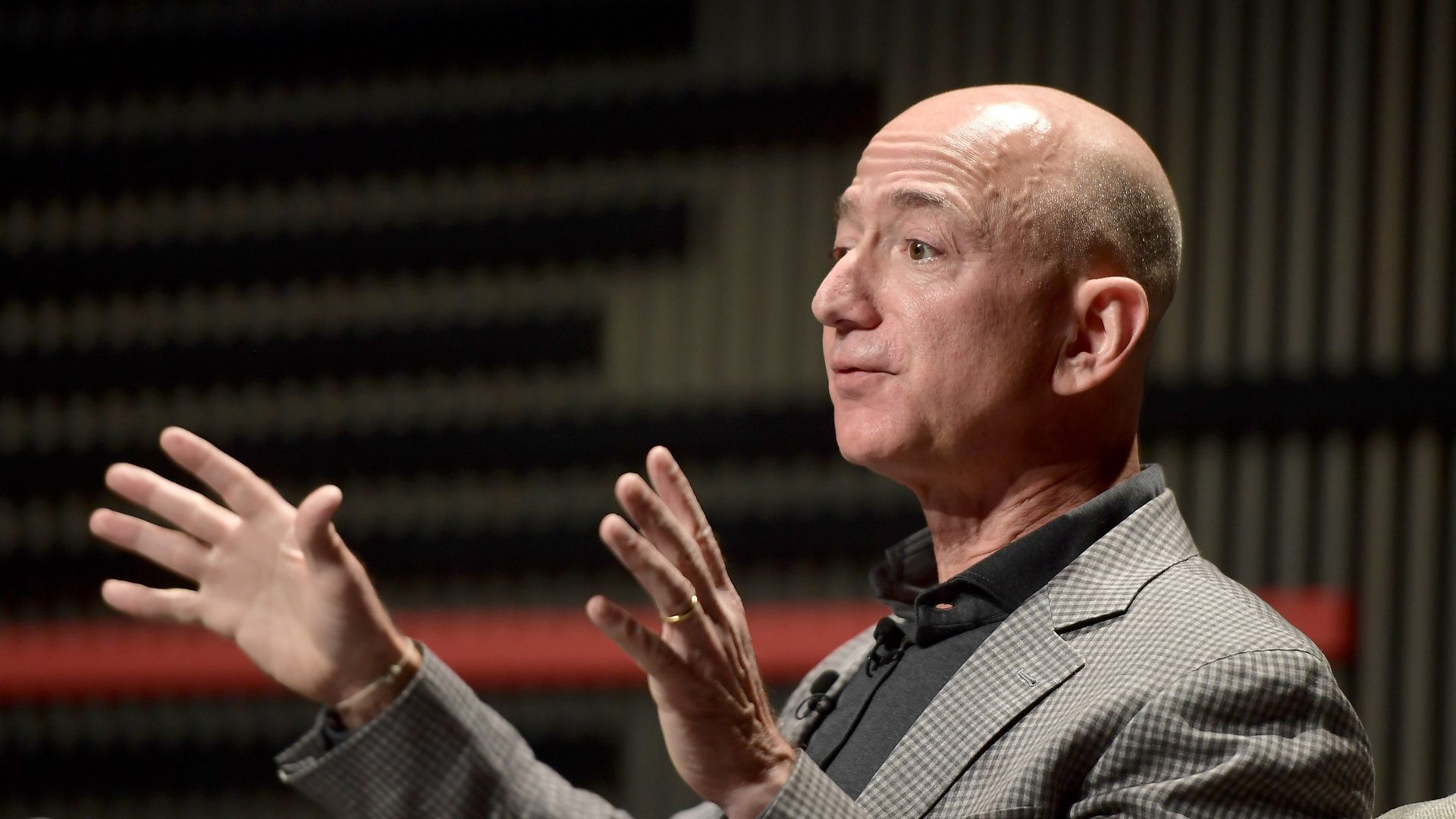 Photo of Jeff Bezos at Wired 25 event in SF.
