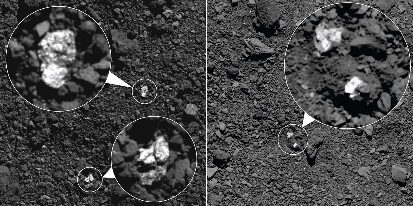 Scientists find fragments of one asteroid on the surface of another
