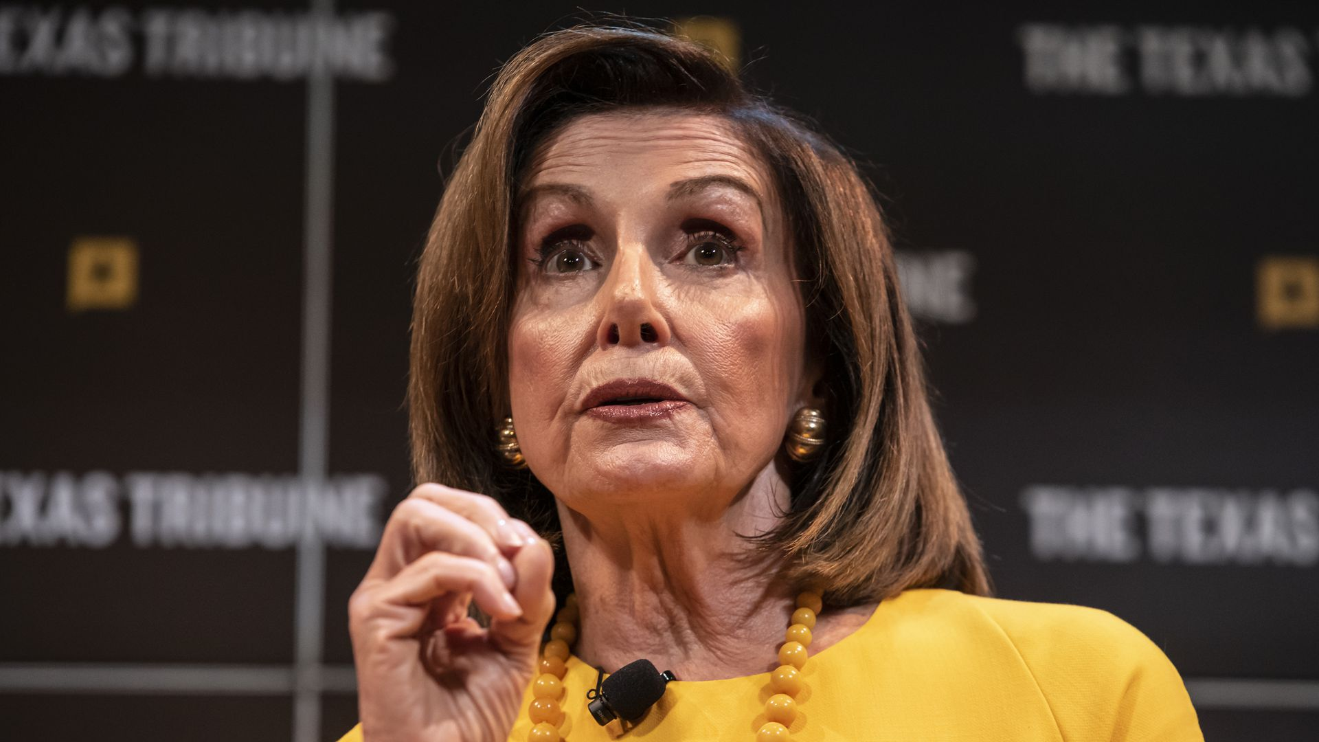 peaker of the House of Representatives, Nancy Pelosi speaks with Texas Tribune CEO, Evan Smith during a panel at The Texas Tribune Festival on September 28, 2019 in Austin, Texas.