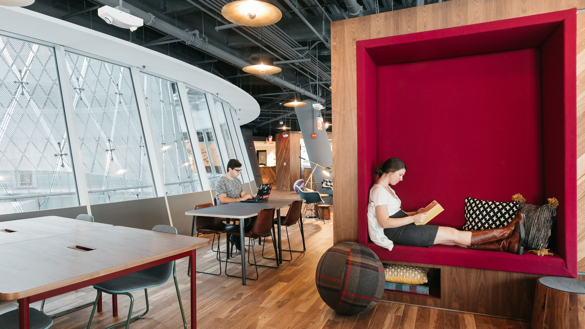 A WeWork co-working spot in New York