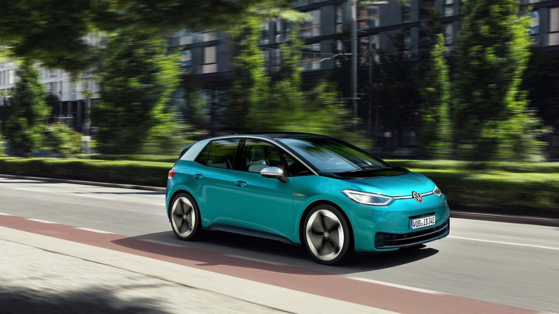 Image of VW's new ID.3 electric vehicle.