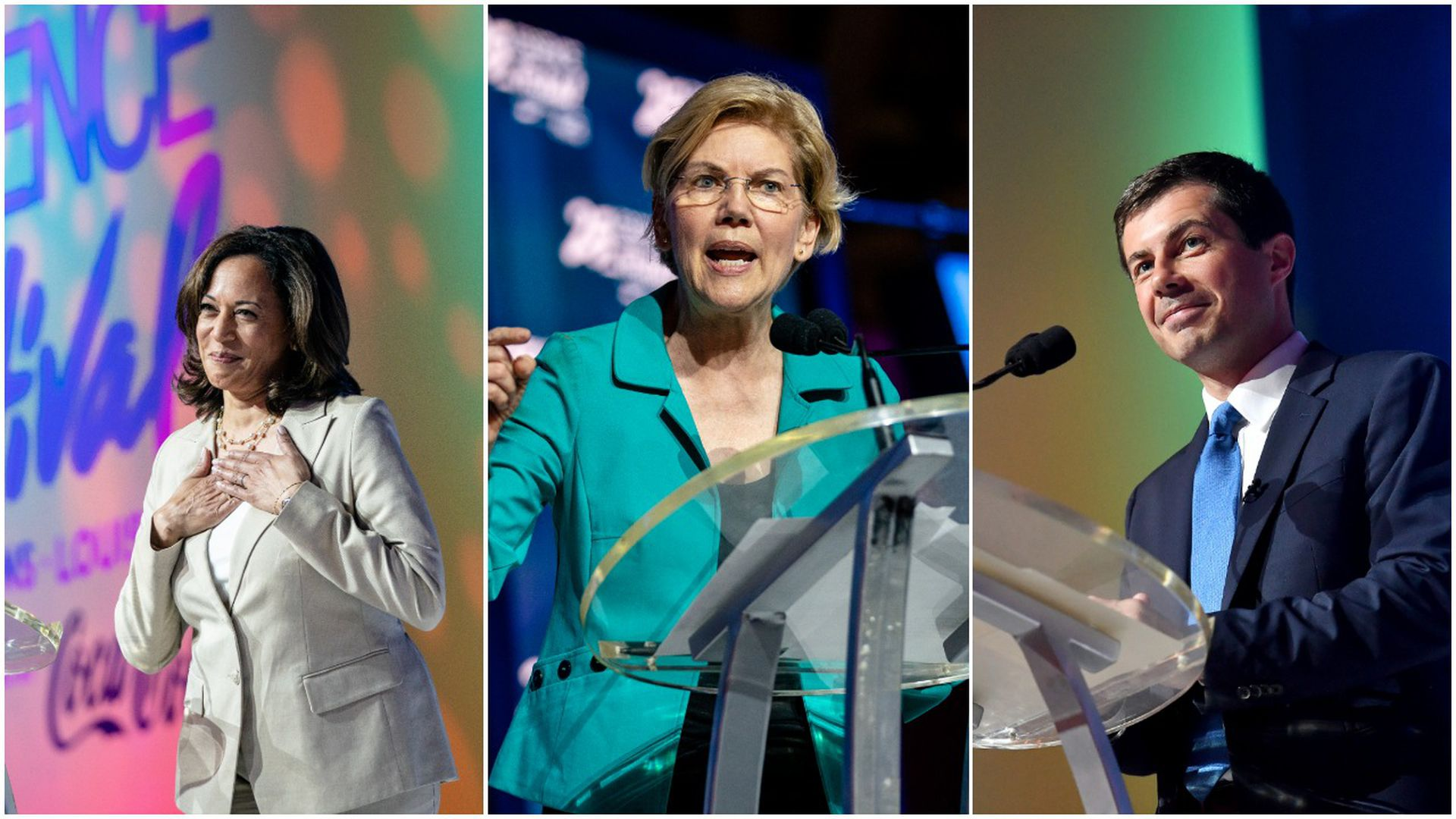 The 5 leaders of the Democratic presidential pack
