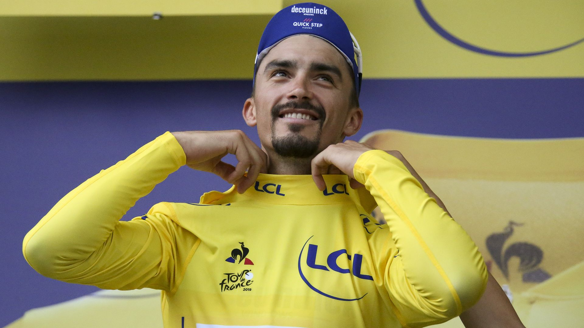 Julian Alaphilippe after Stage 18