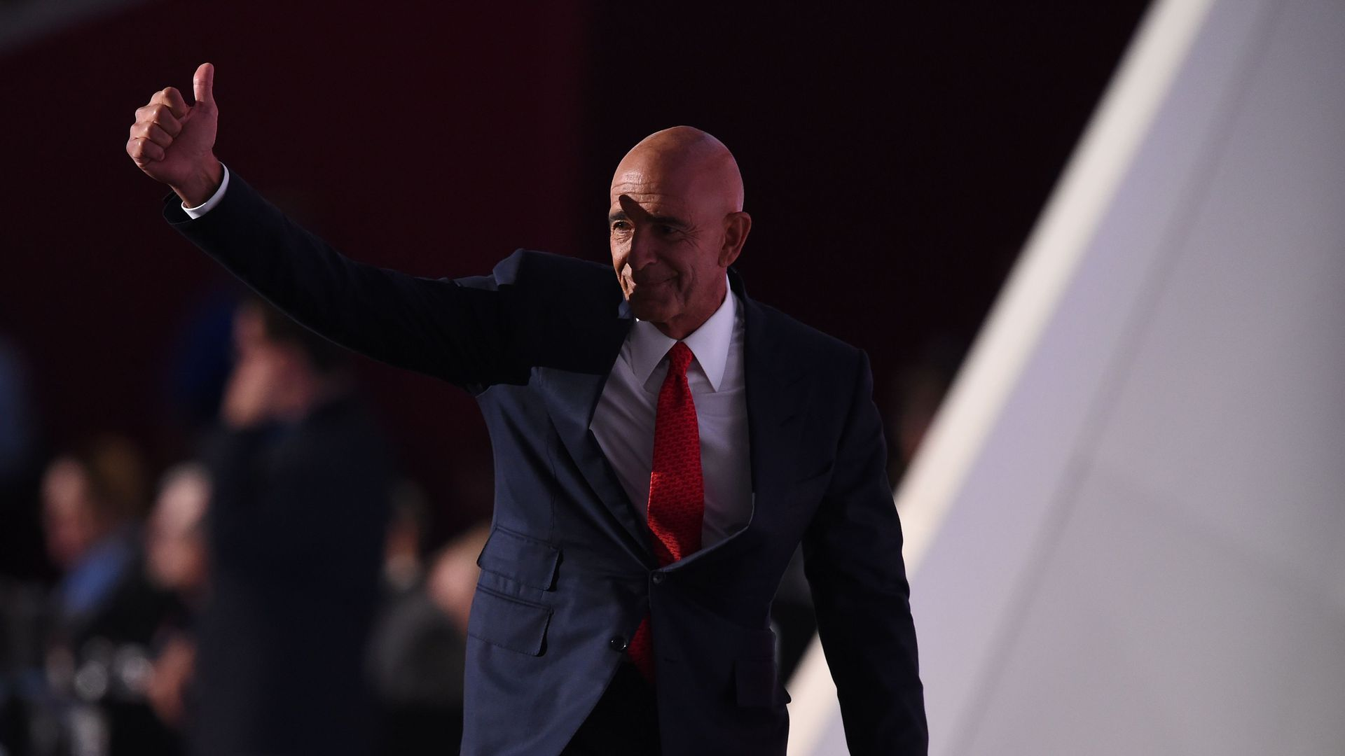 Colon Capital's Tom Barrack at the Republican National Convention in 2016.