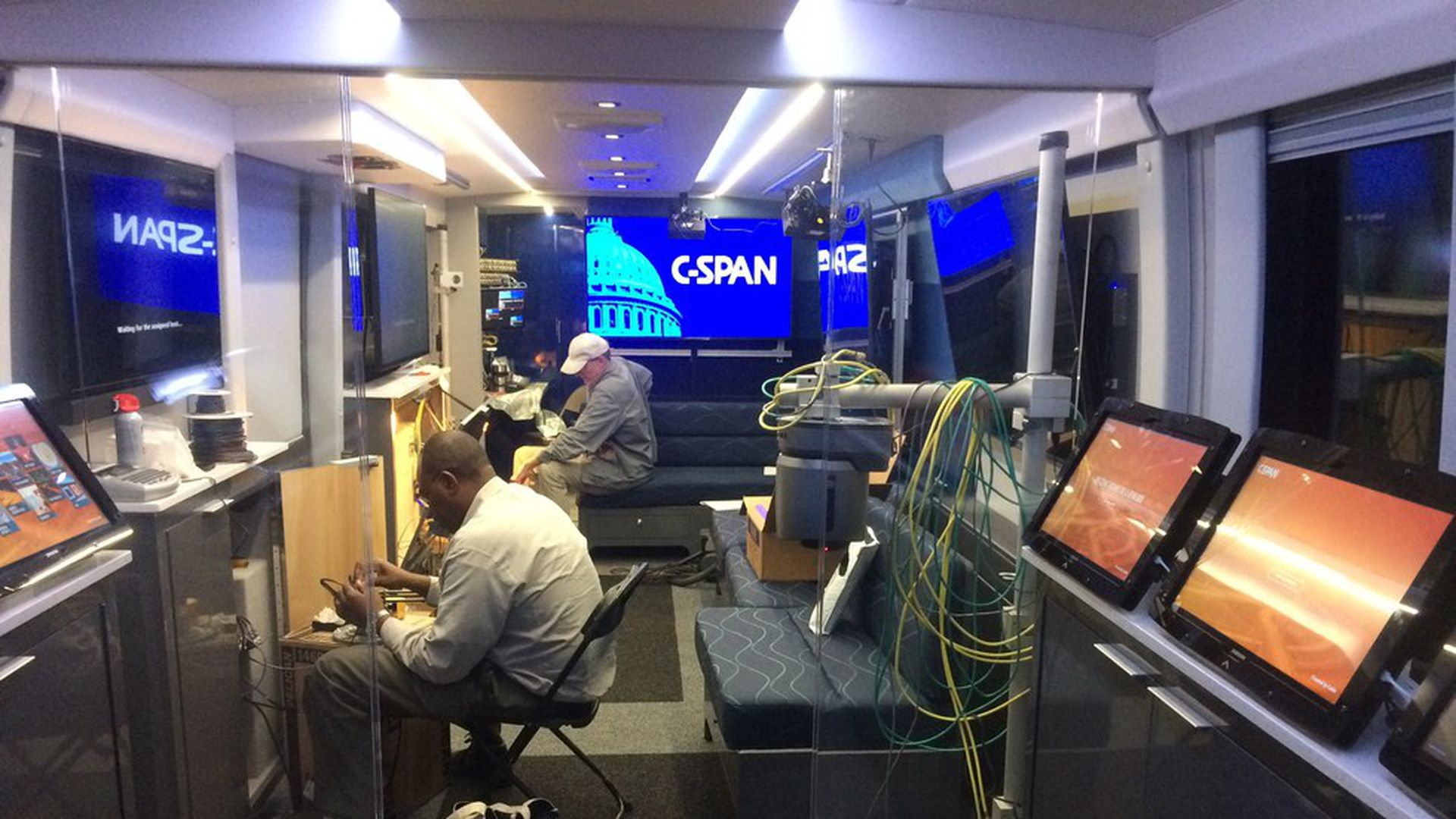 c605fae6b3 Exclusive  Inside the new C-SPAN bus - Axios