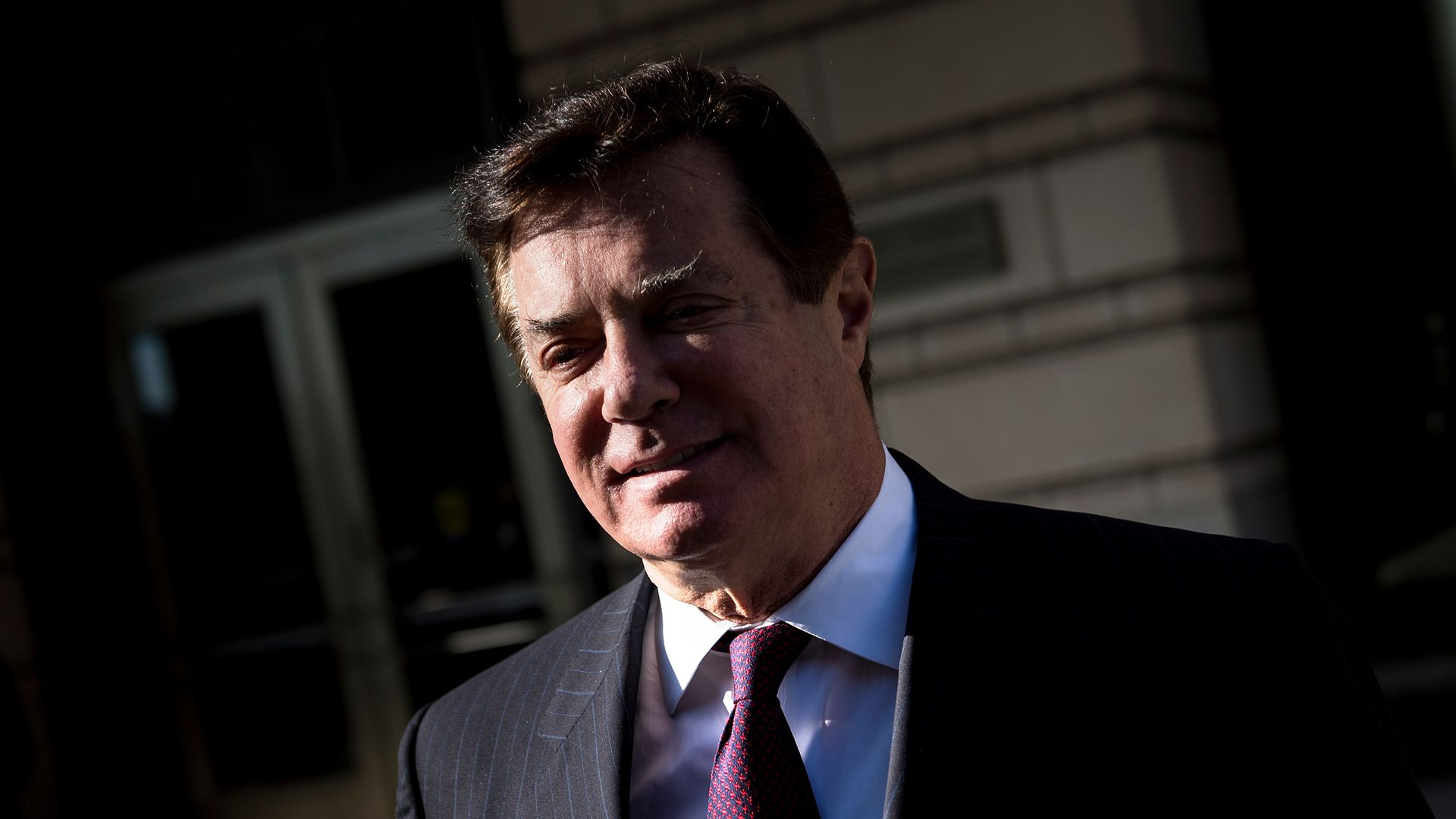 Paul Manafort in partial shade.