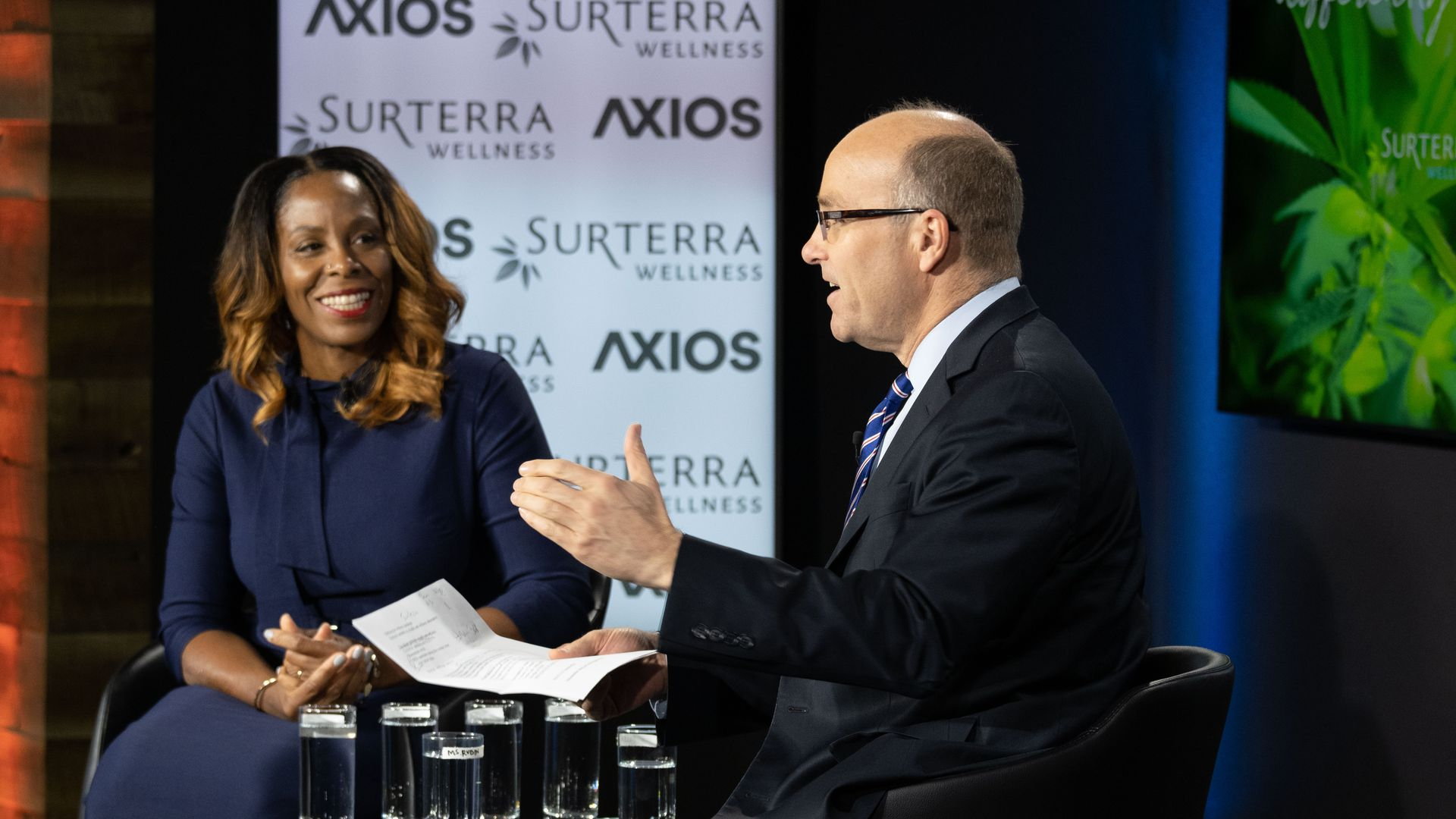 Rep. Stacey Plaskett in conversation with Axios' Mike Allen