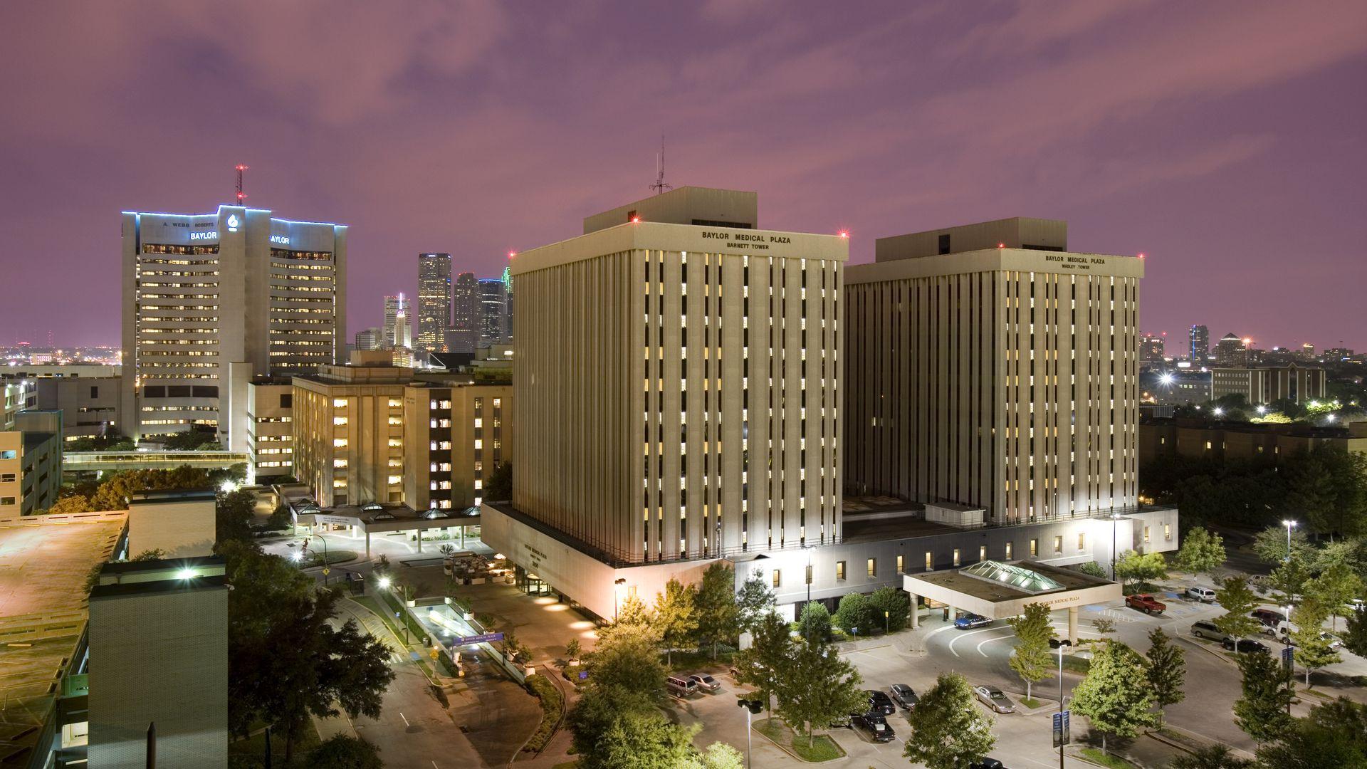 Baylor University Medical Center hospital campus in Dallas.