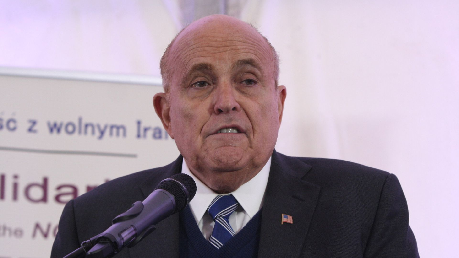 Rudy Giuliani says President Trump won't look at the issue of granting pardons until the Mueller probe concludes.