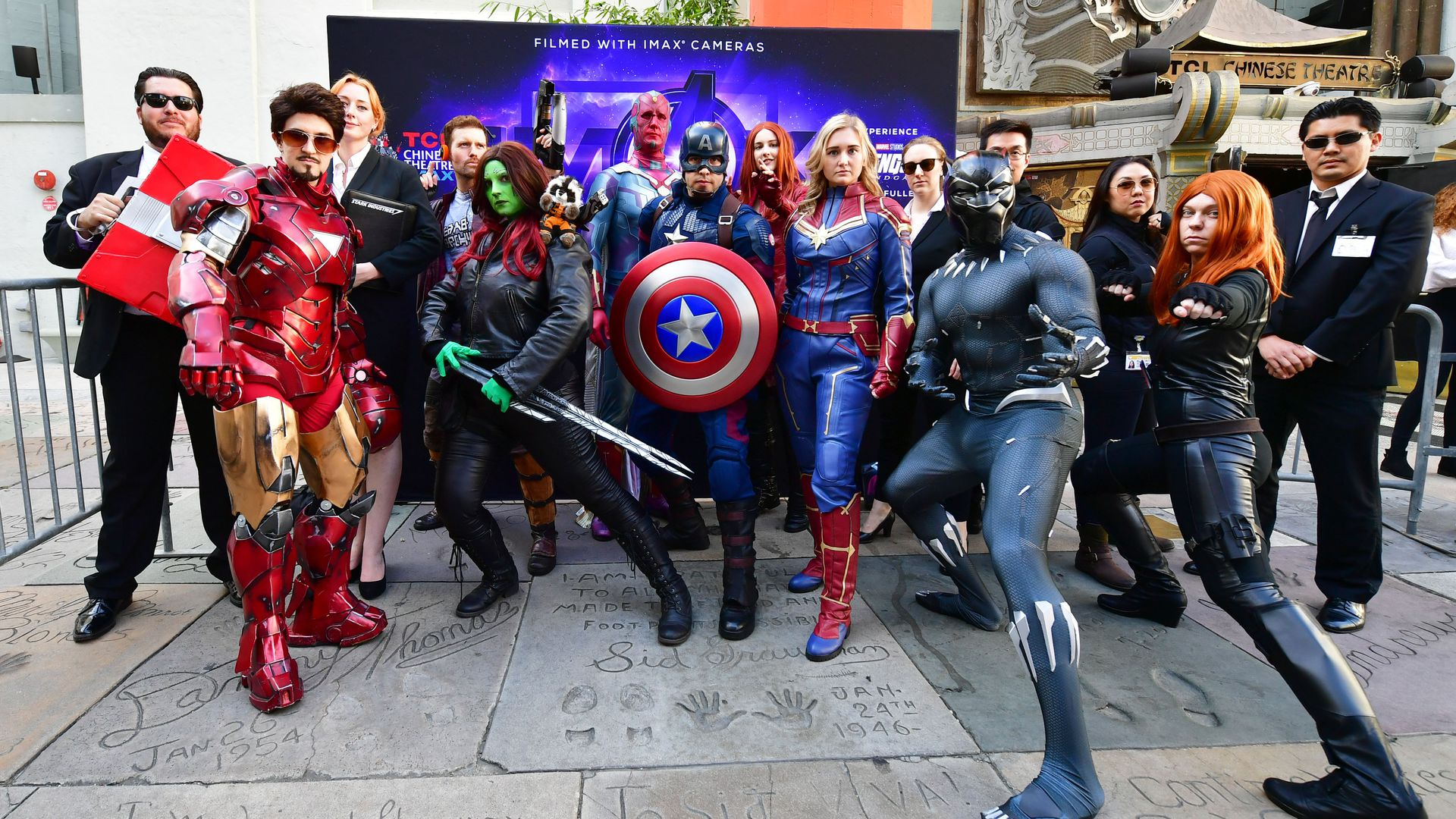 People in Cosplay for the avengers movie