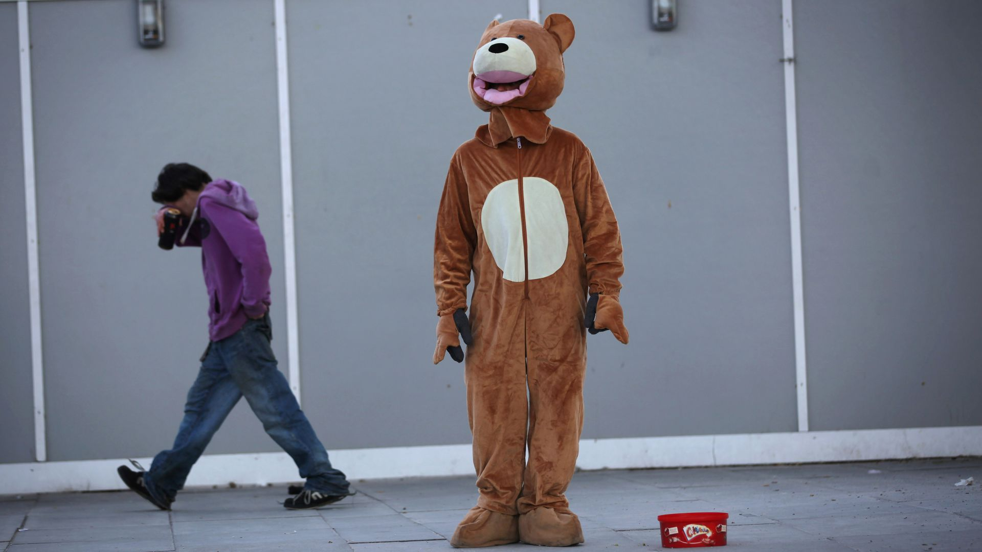 Man in bear suit