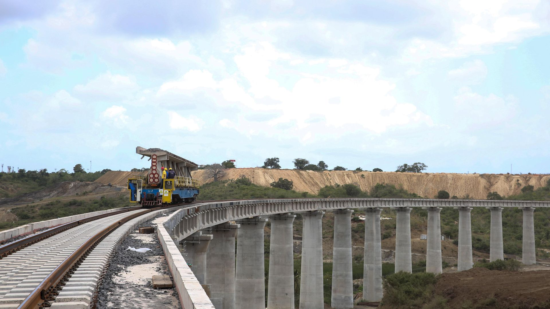 A Kenyan bridge under construction