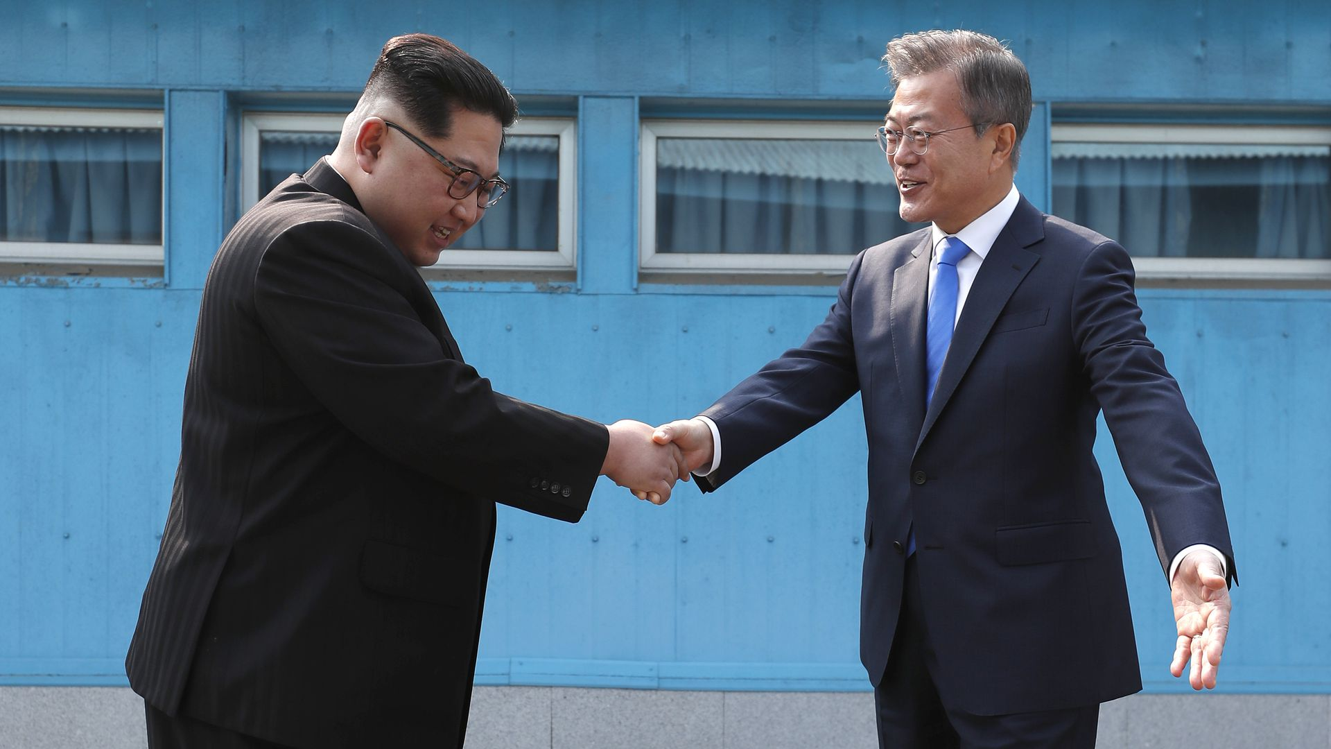The leaders of North and South Korea