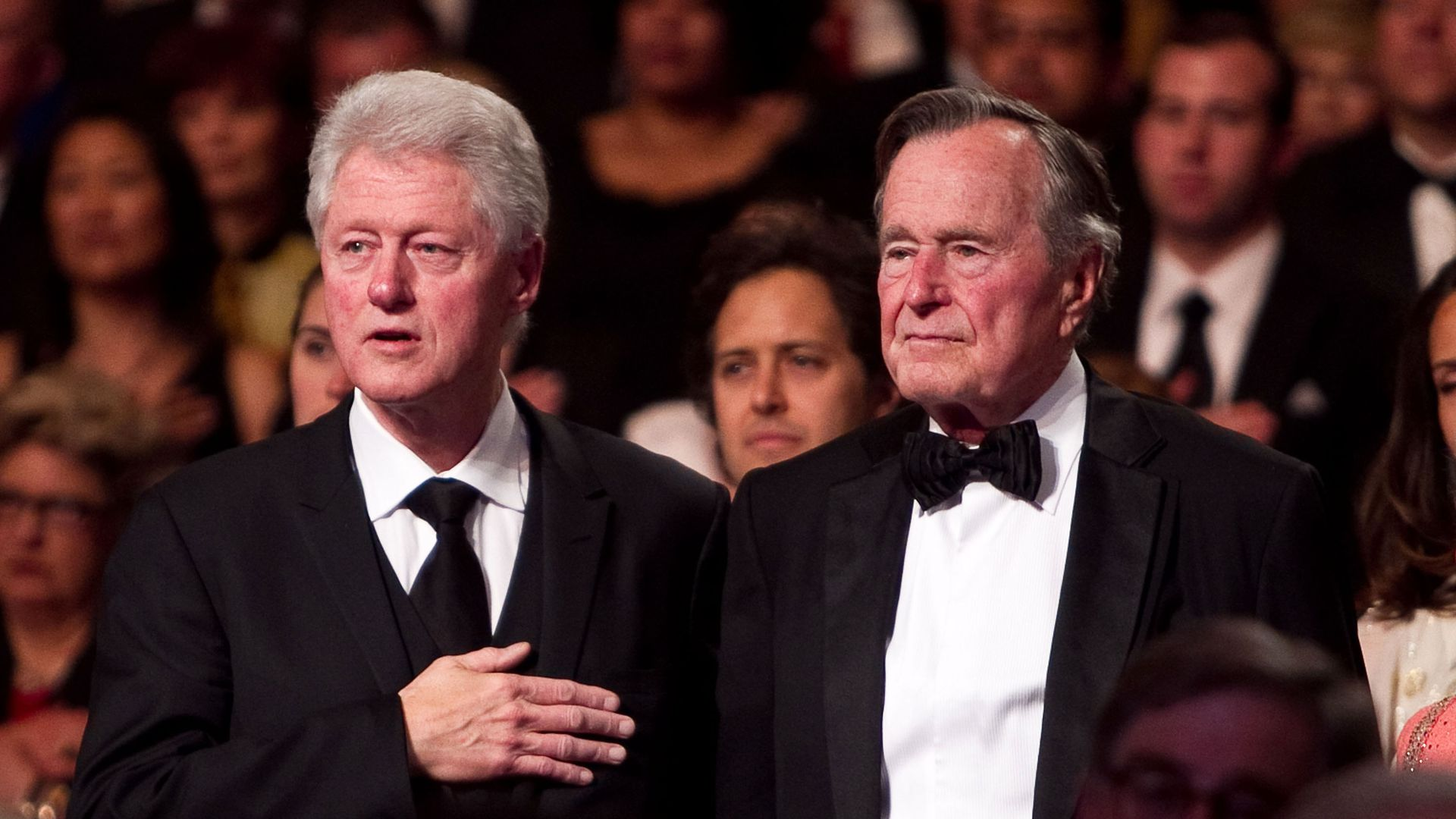 Bill Clinton and George HW Bush