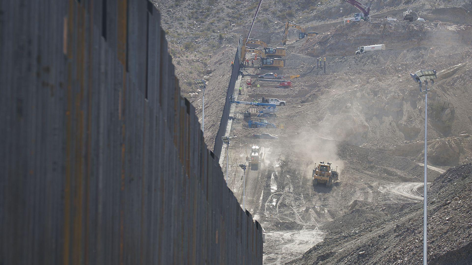 Border wall construction along the southern border