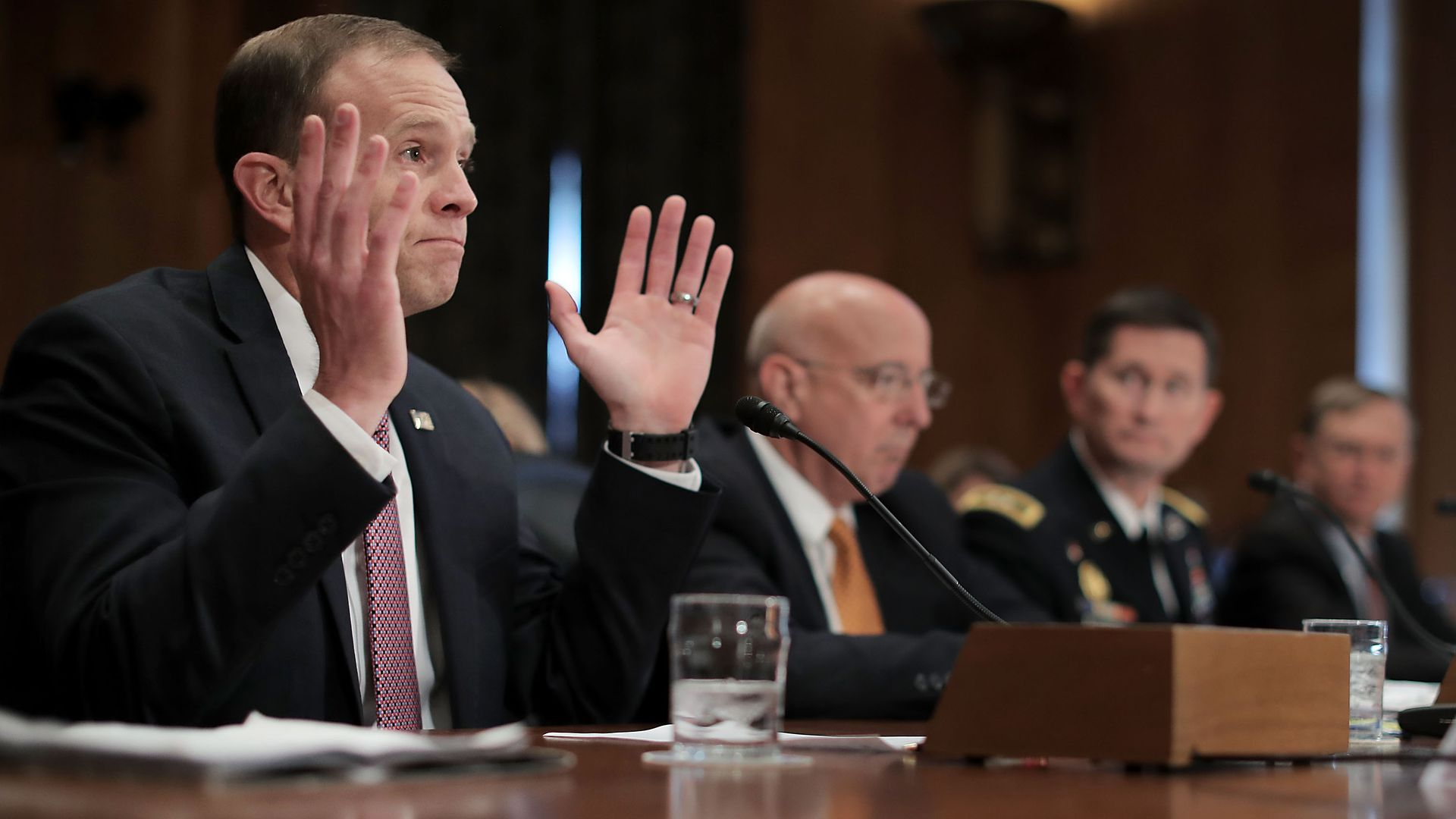 FEMA Administrator Brock Long testifies before Senate Homeland Security committee in October.
