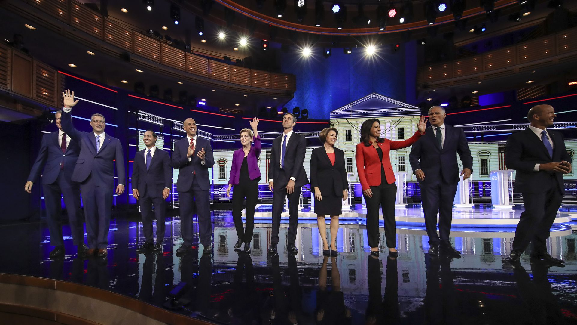 Some of the 2020 candidates during the first round of primary debates