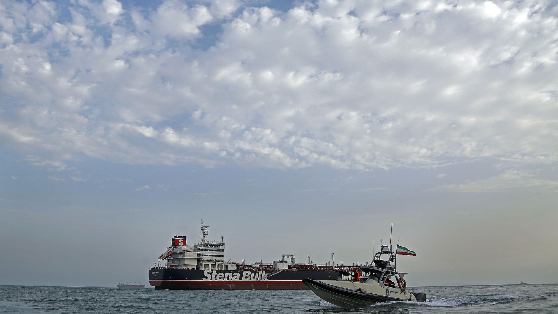 The Stena Impero being seized and detained.