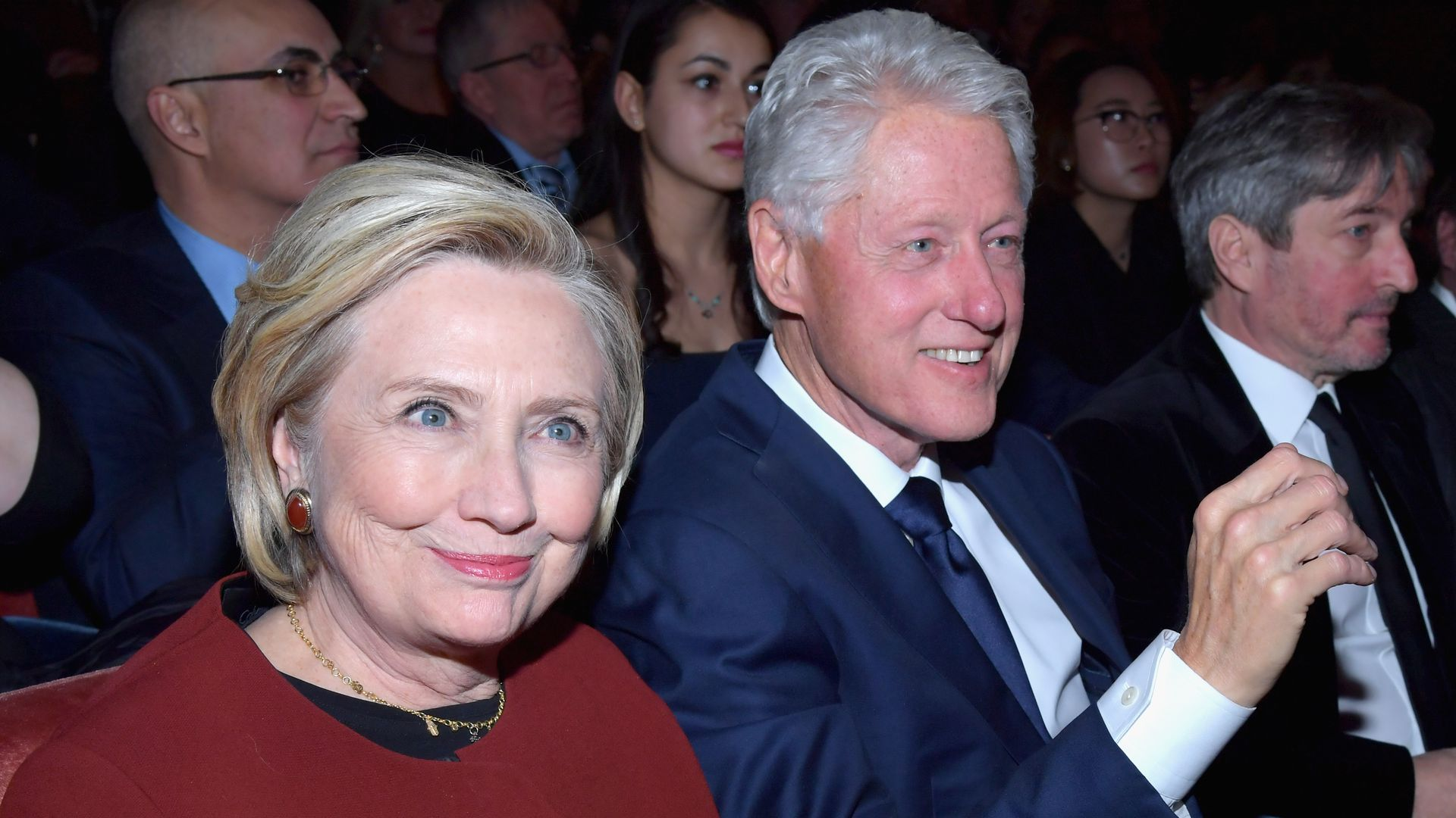 Hillary and Bill Clinton at an awards show