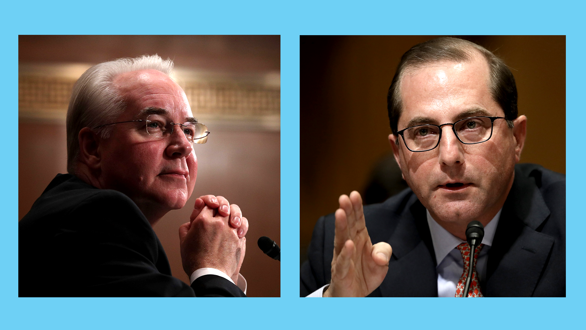 HHS Secs. Tom Price and Alex Azar
