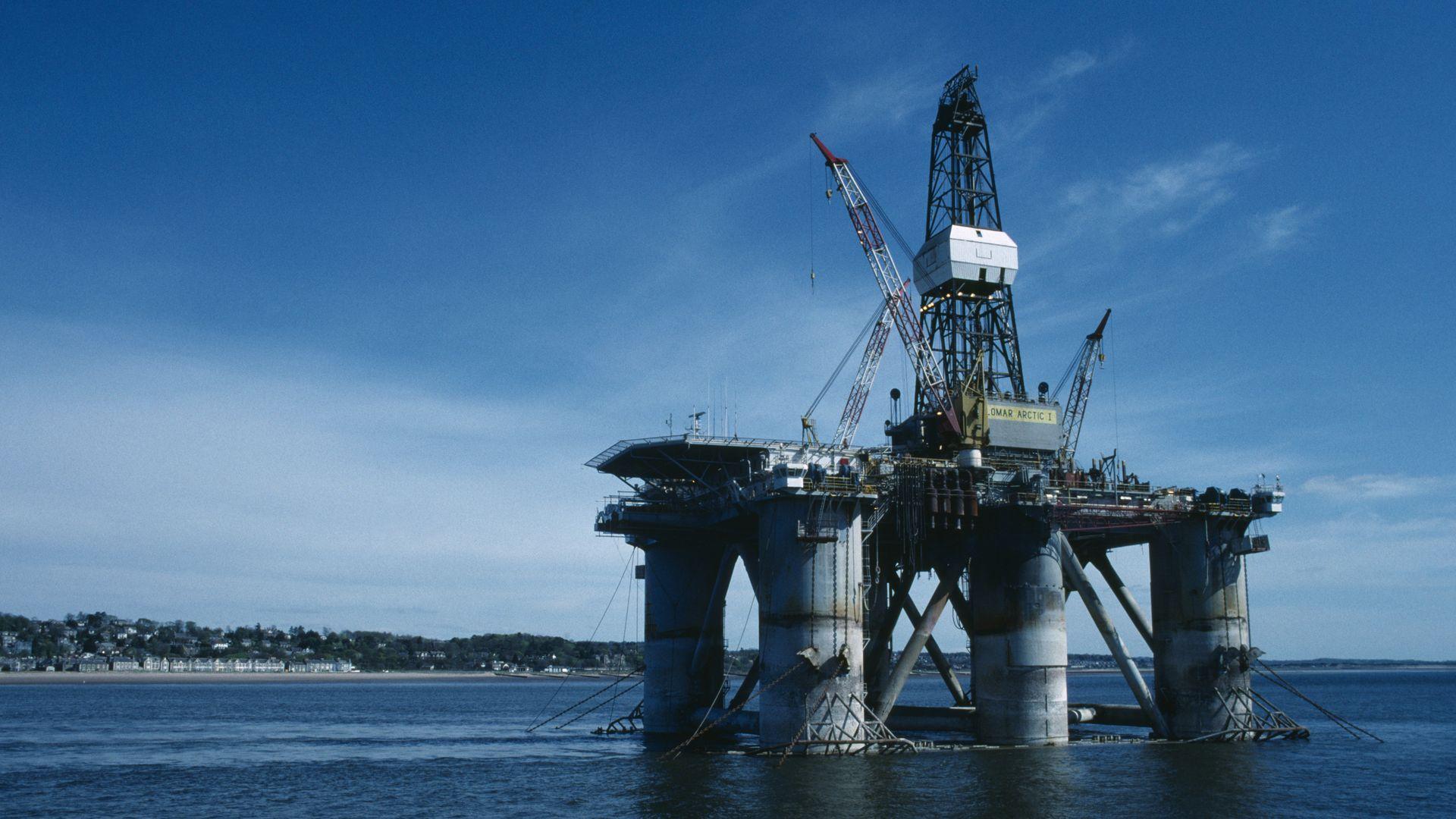 Semi Submersible Oil Rig