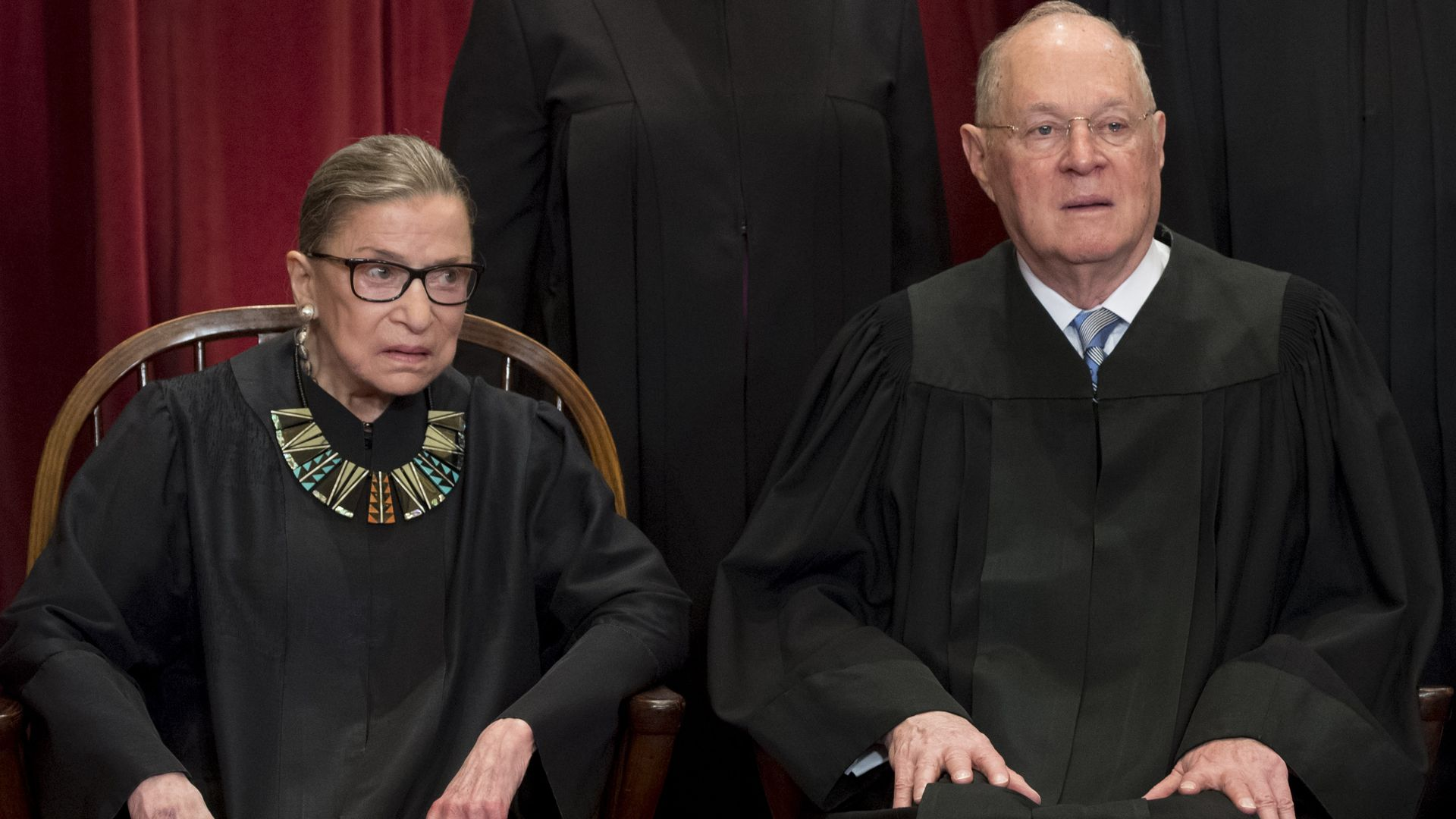 Justices Ruth Bader Ginsburg and Anthony Kennedy