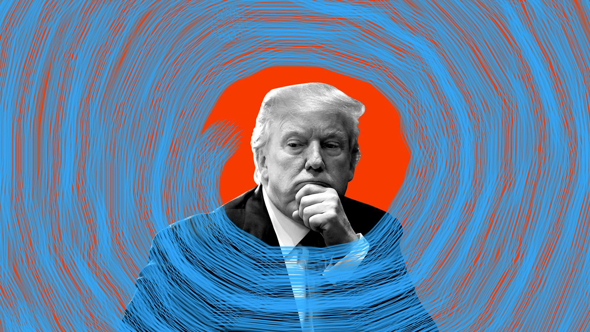 President Trump and a swirling vortex