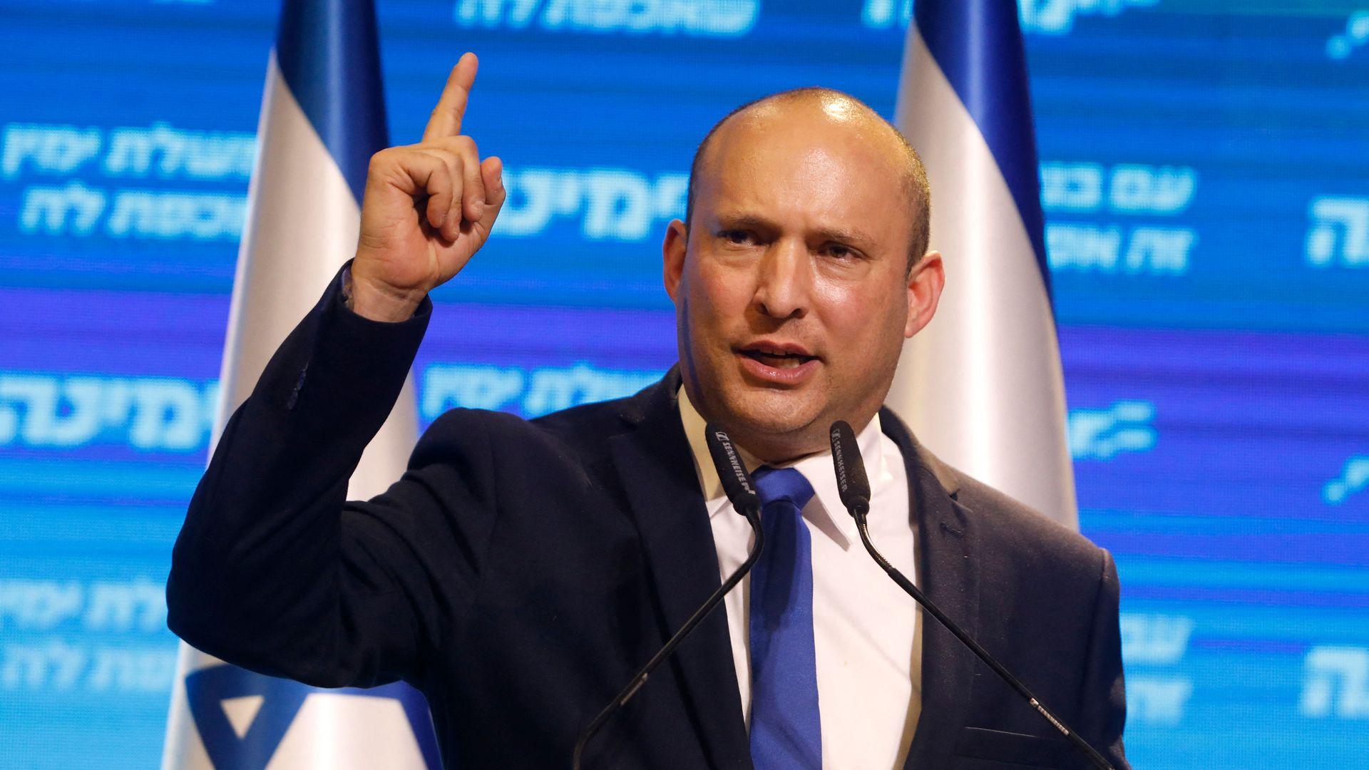Naftali Bennett, leader of the Israeli right-wing Yamina ('New Right') party