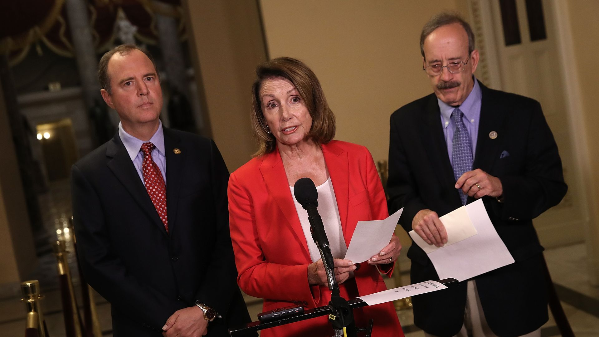 House Minority Leader Nancy Pelosi speaks at a press conference at the U.S. Capitol